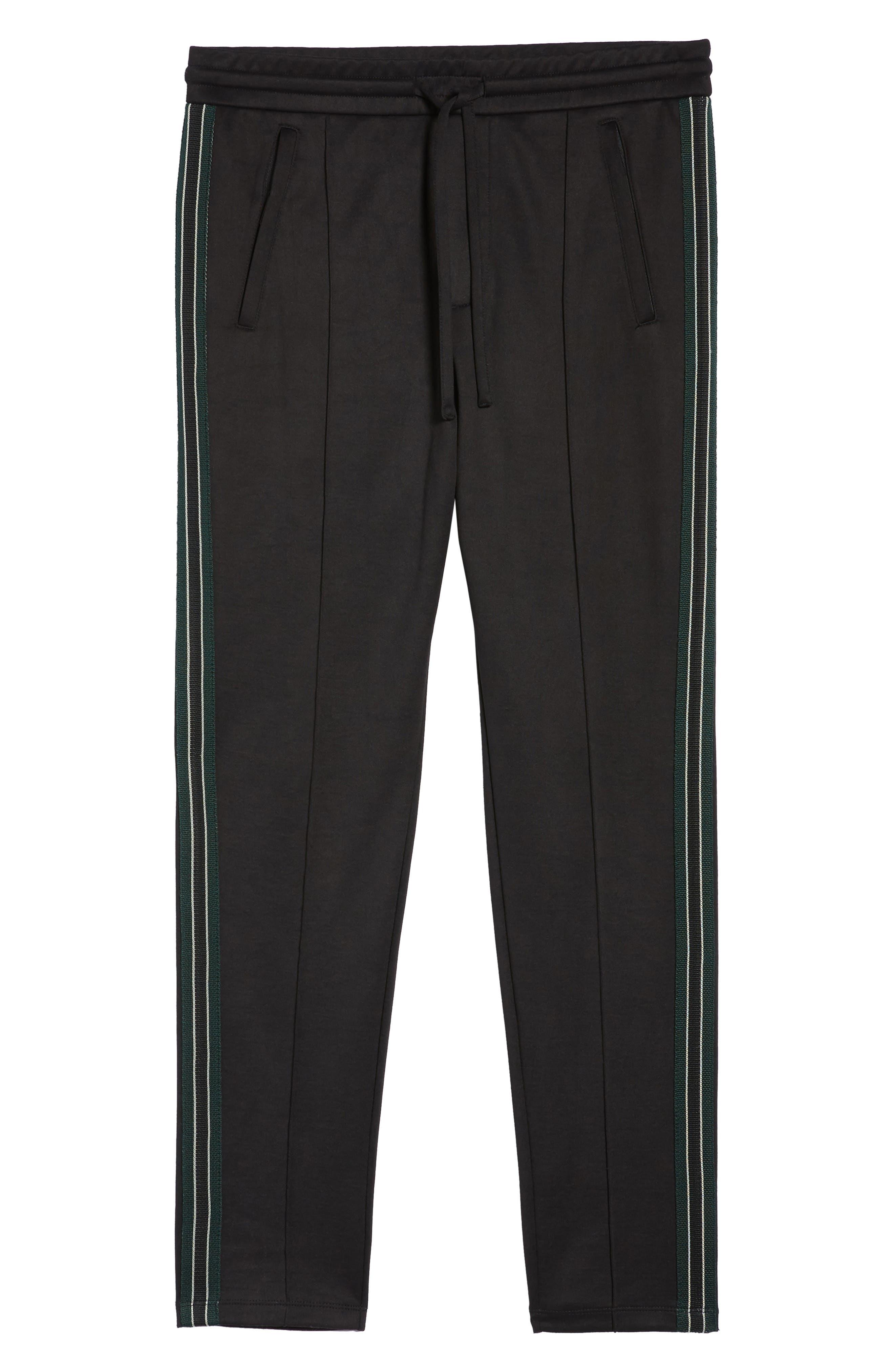 Slim Fit Track Pants,                             Alternate thumbnail 6, color,                             BLACK