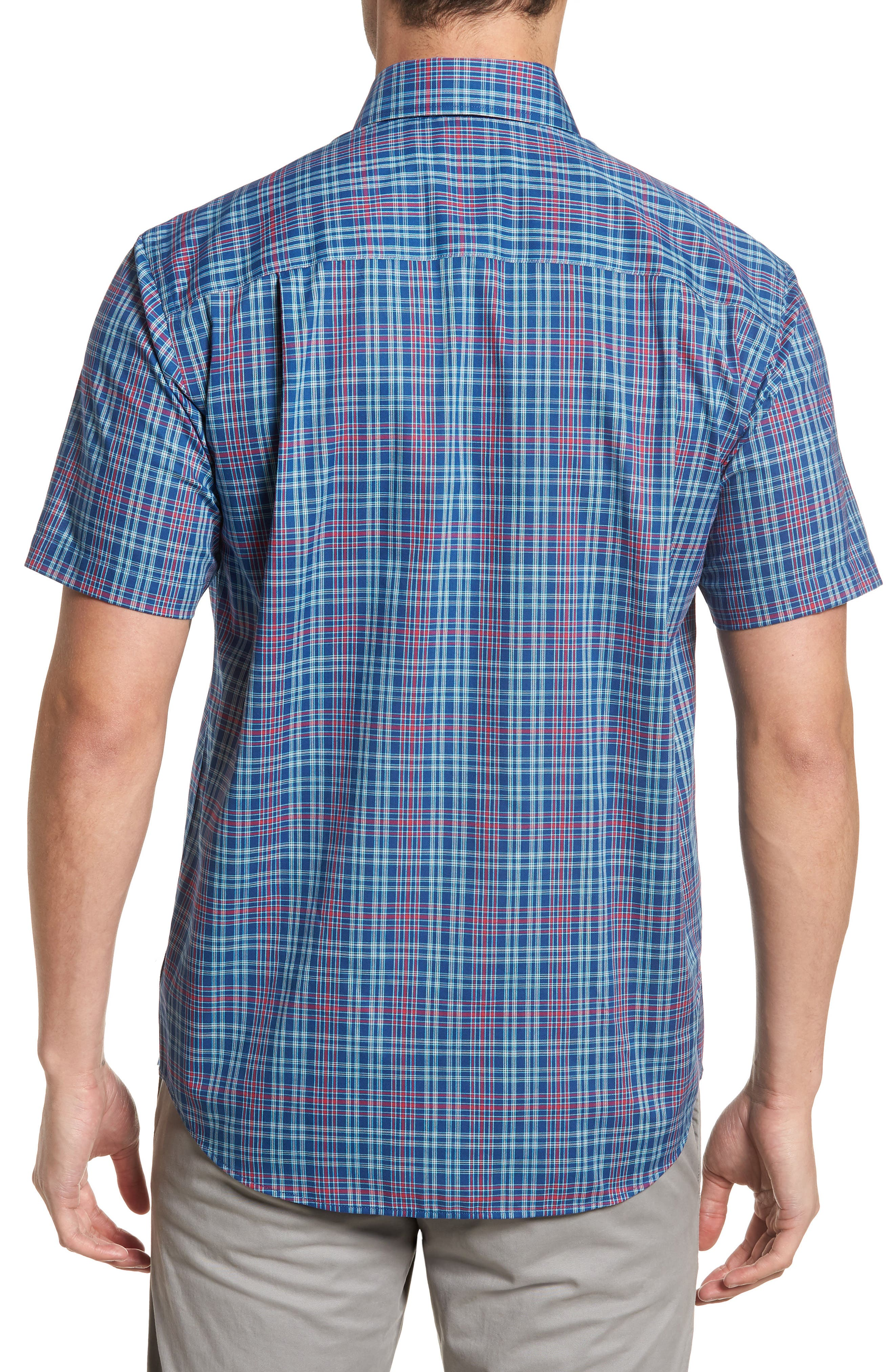 Isaac Plaid Easy Care Woven Shirt,                             Alternate thumbnail 7, color,