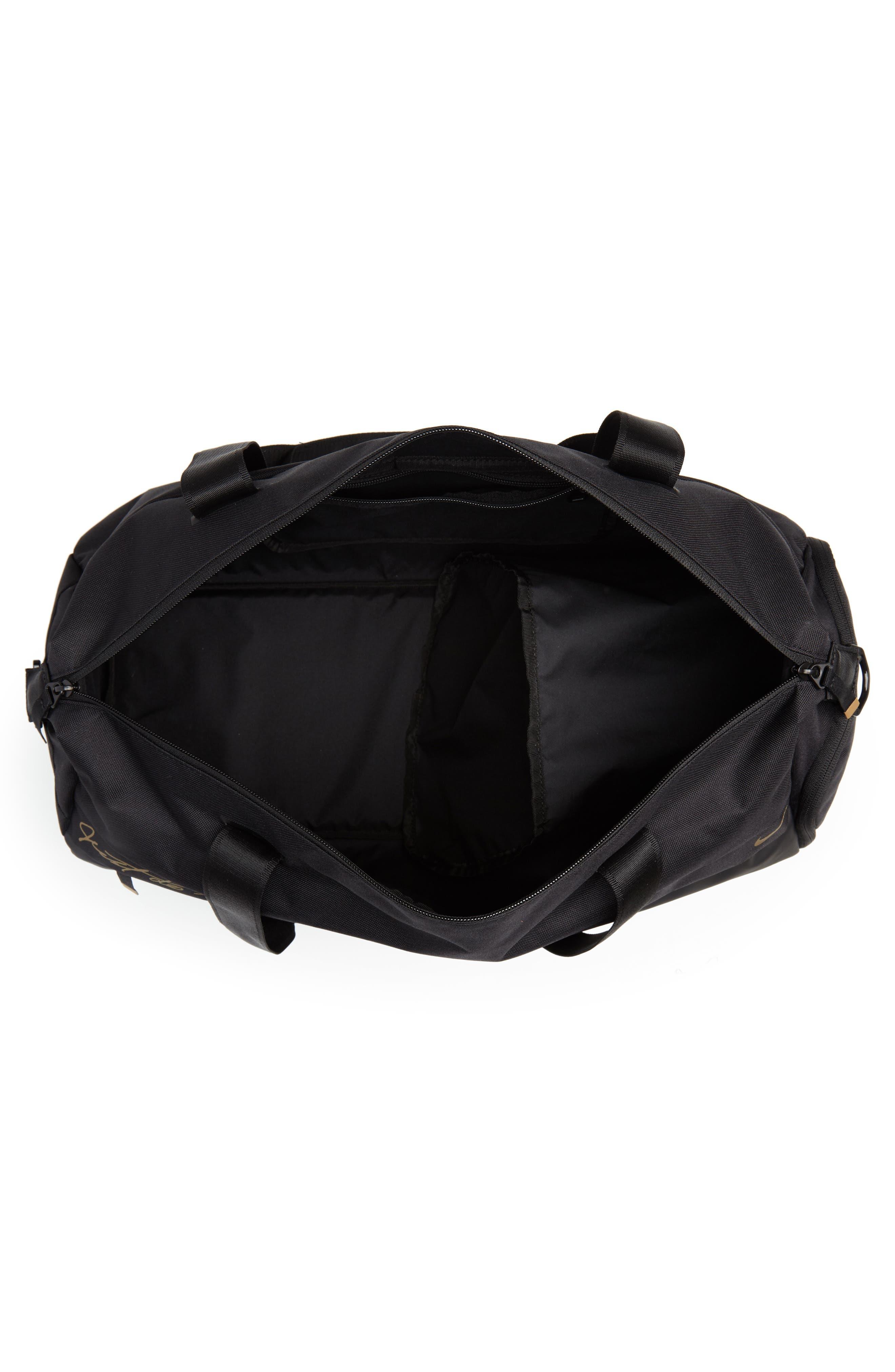 Radiate Club Training Bag,                             Alternate thumbnail 4, color,                             BLACK/ BLACK/ METALLIC GOLD