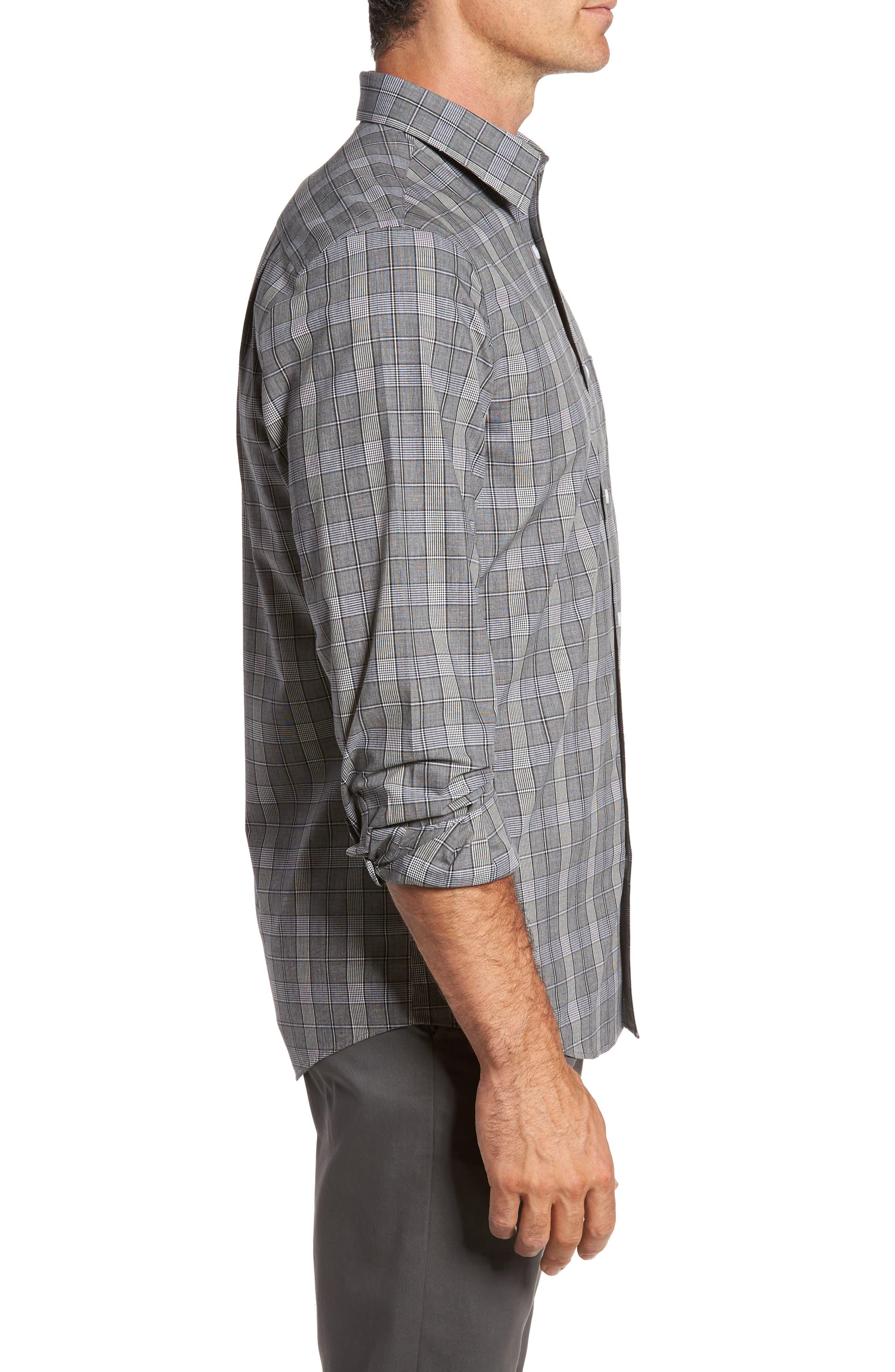 Smartcare<sup>™</sup> Regular Fit Plaid Sport Shirt,                             Alternate thumbnail 17, color,