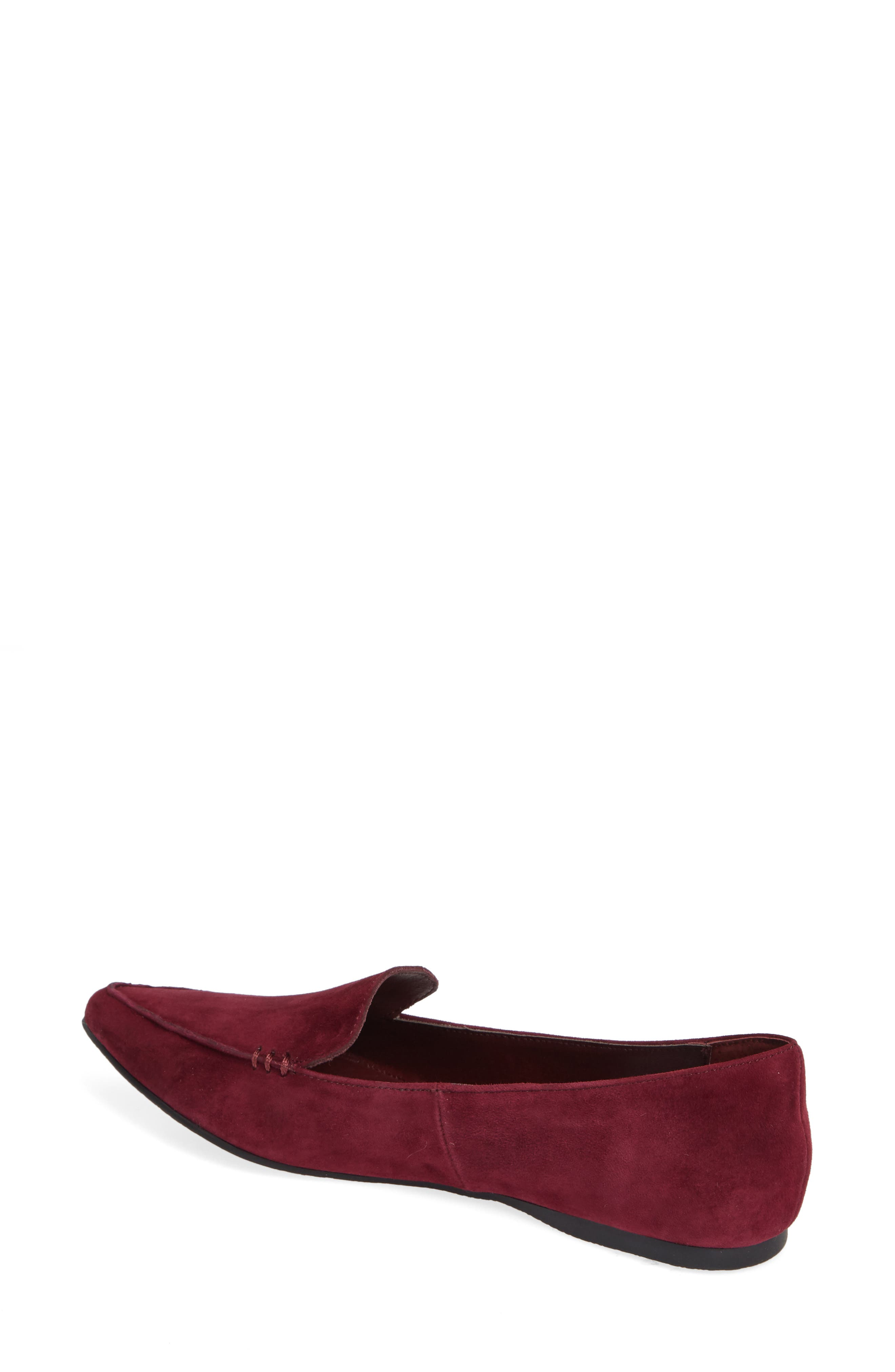 Feather Loafer Flat,                             Alternate thumbnail 2, color,                             BURGUNDY