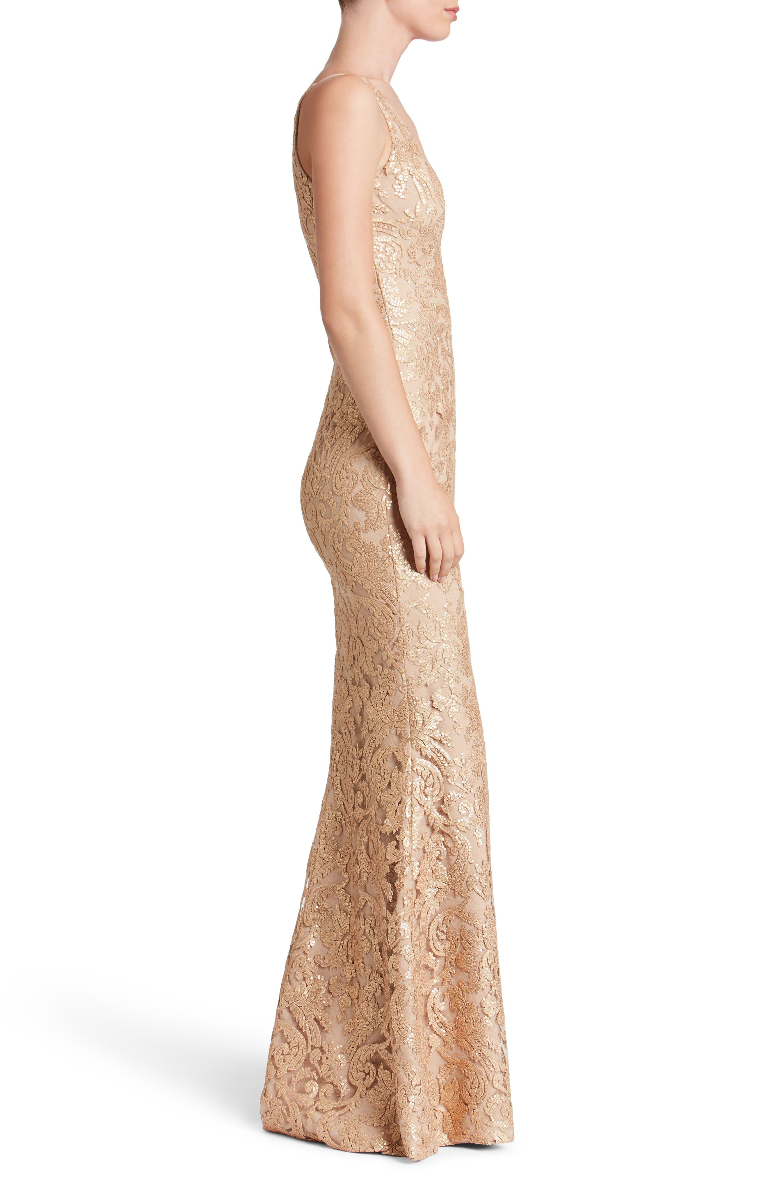 Karen Mermaid Gown,                             Alternate thumbnail 17, color,