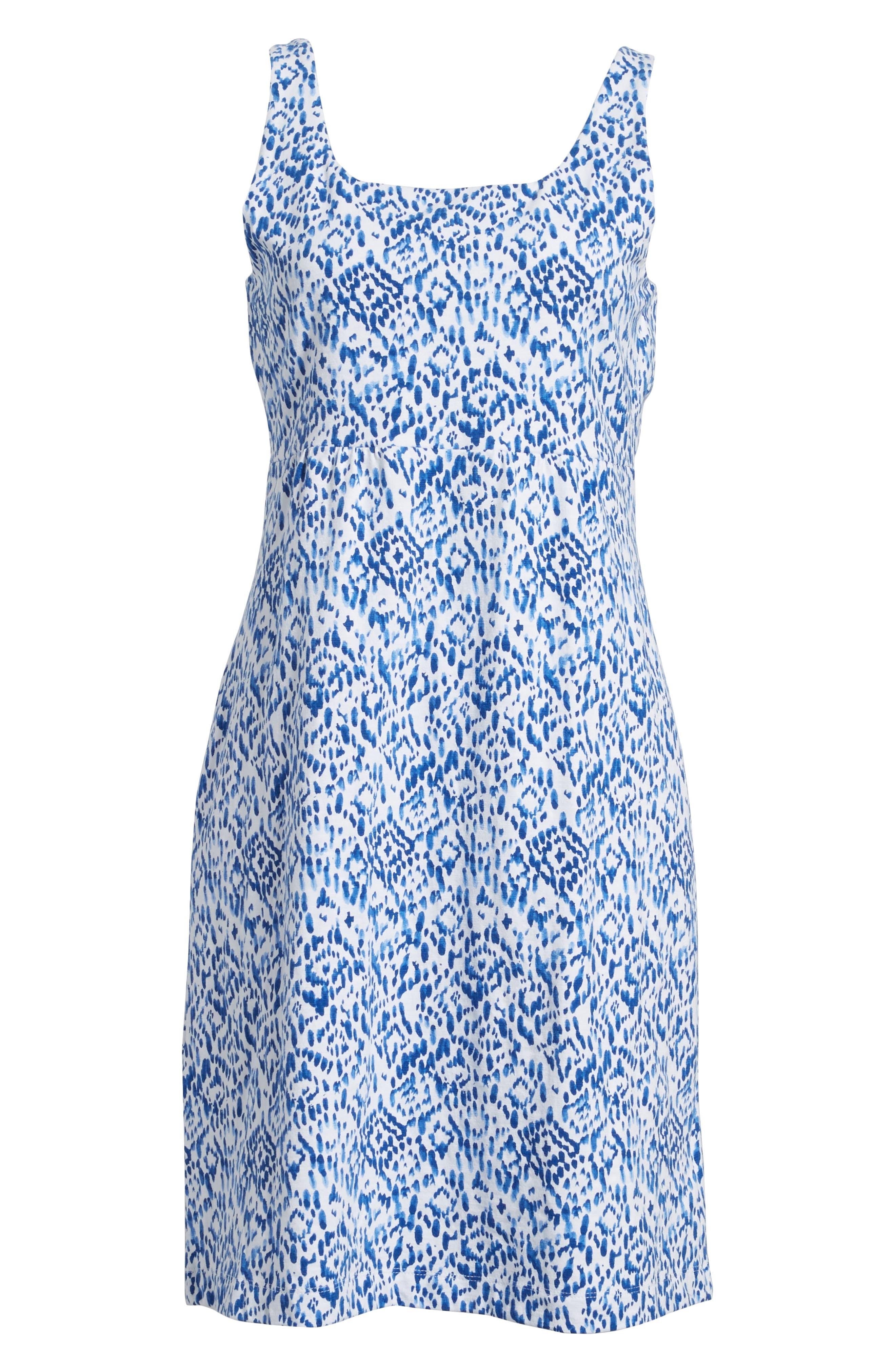 La Liorena Sleeveless Stretch Cotton Tank Dress,                             Alternate thumbnail 6, color,                             400