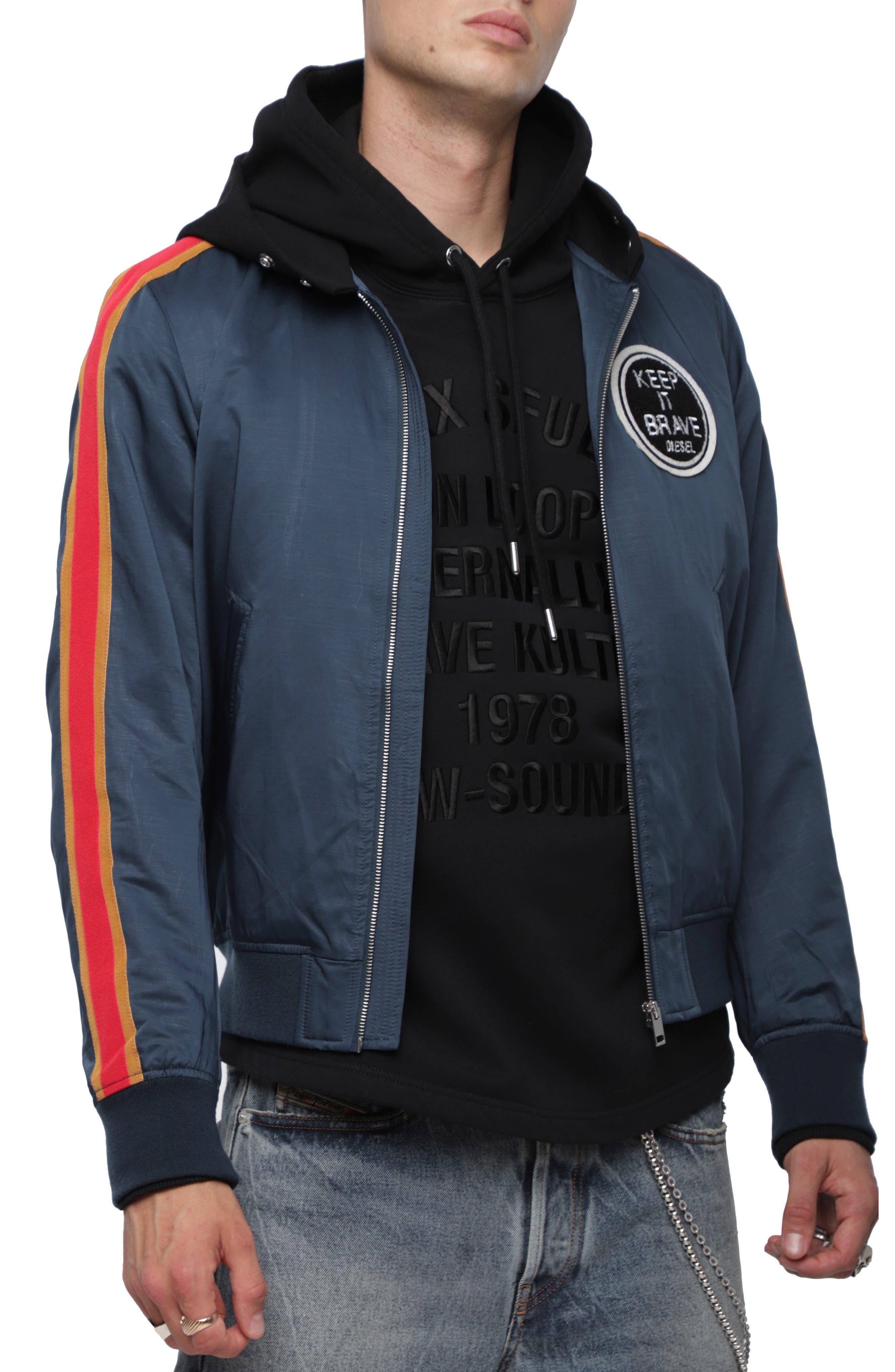 DIESE<sup>®</sup>L J-Eldert Bomber Jacket,                         Main,                         color, NAVY