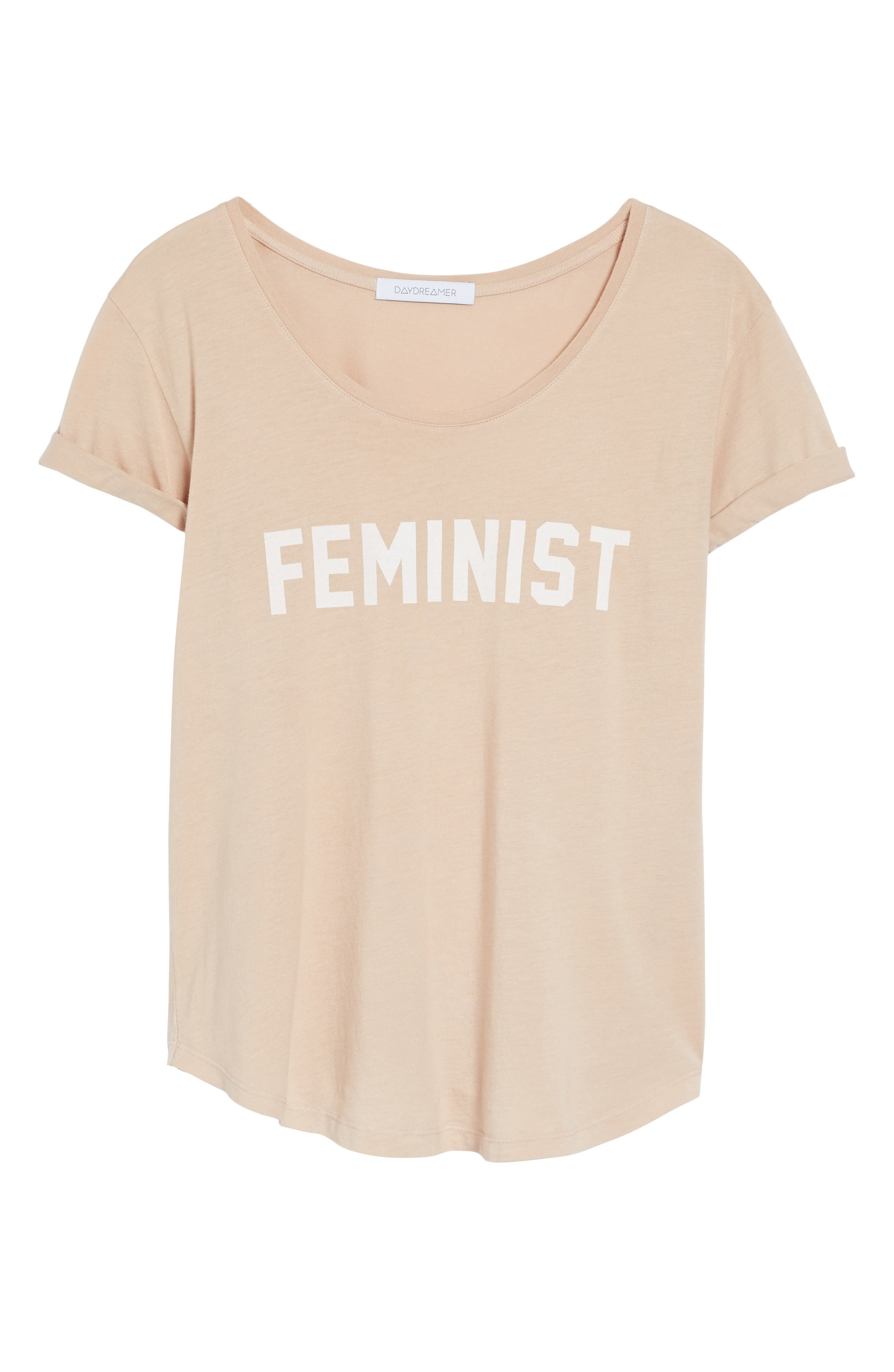Feminist Graphic Tee,                             Alternate thumbnail 6, color,                             250