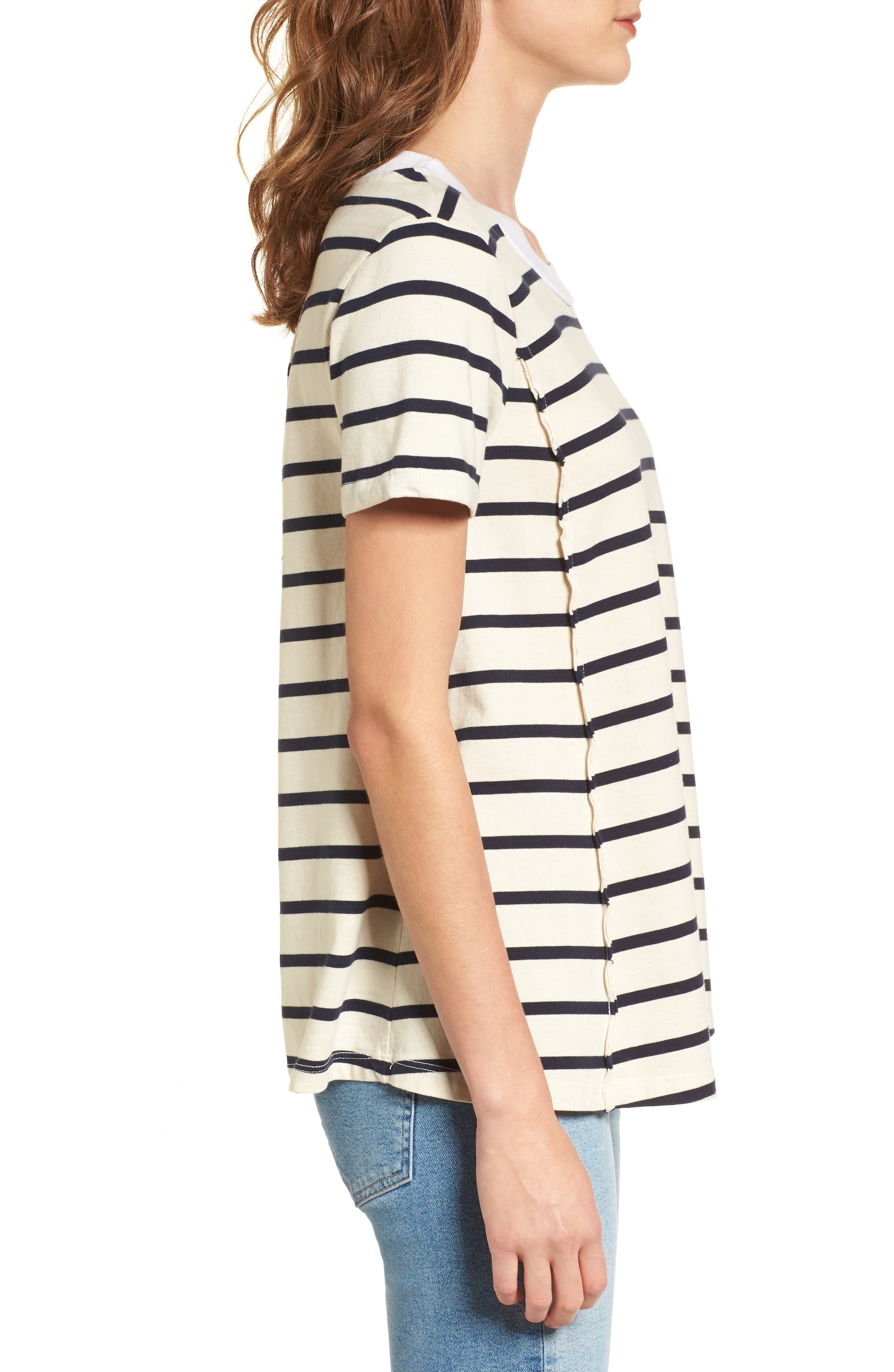 Stripe Swing Tee,                             Alternate thumbnail 3, color,                             900