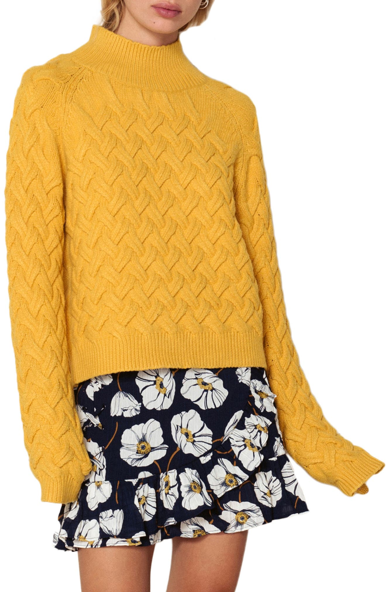 Adele Sweater,                             Main thumbnail 1, color,                             BUTTERSCOTCH