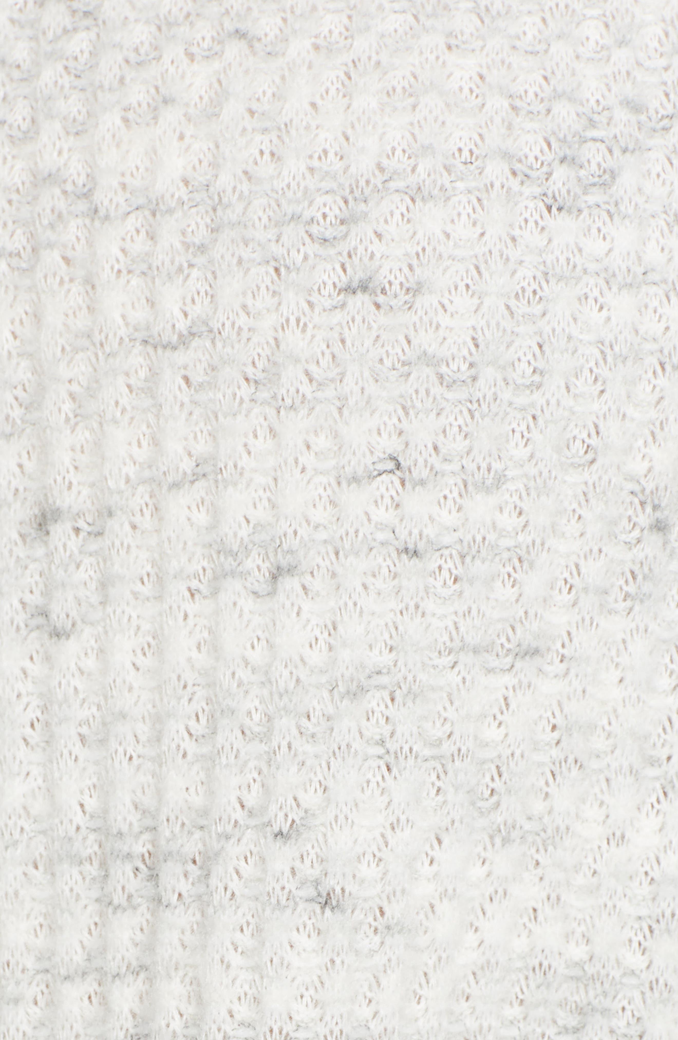 SOCIALITE,                             Tie Hem Thermal Tee,                             Alternate thumbnail 5, color,                             020