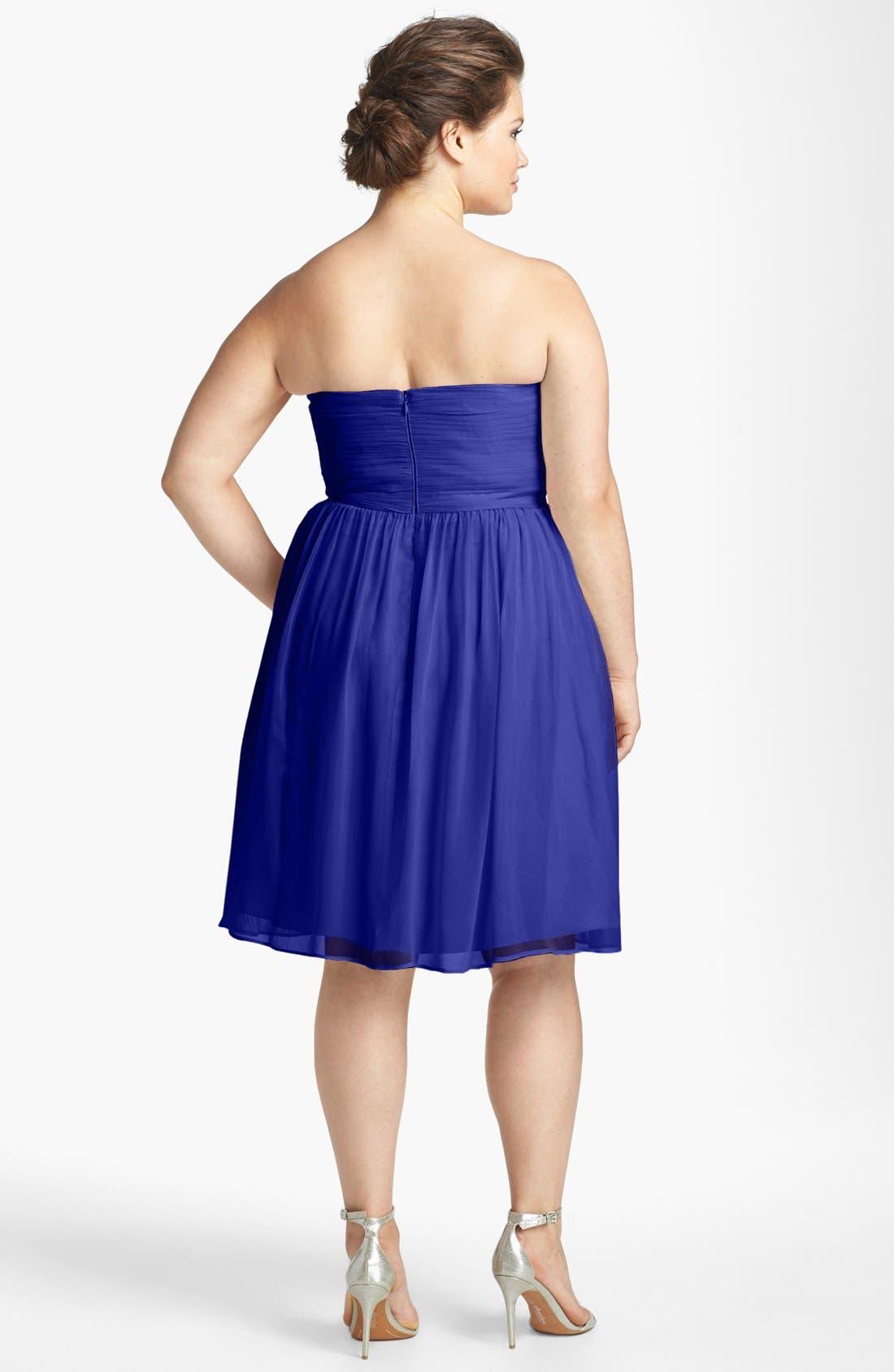 'Morgan' Strapless Silk Chiffon Dress,                             Alternate thumbnail 111, color,