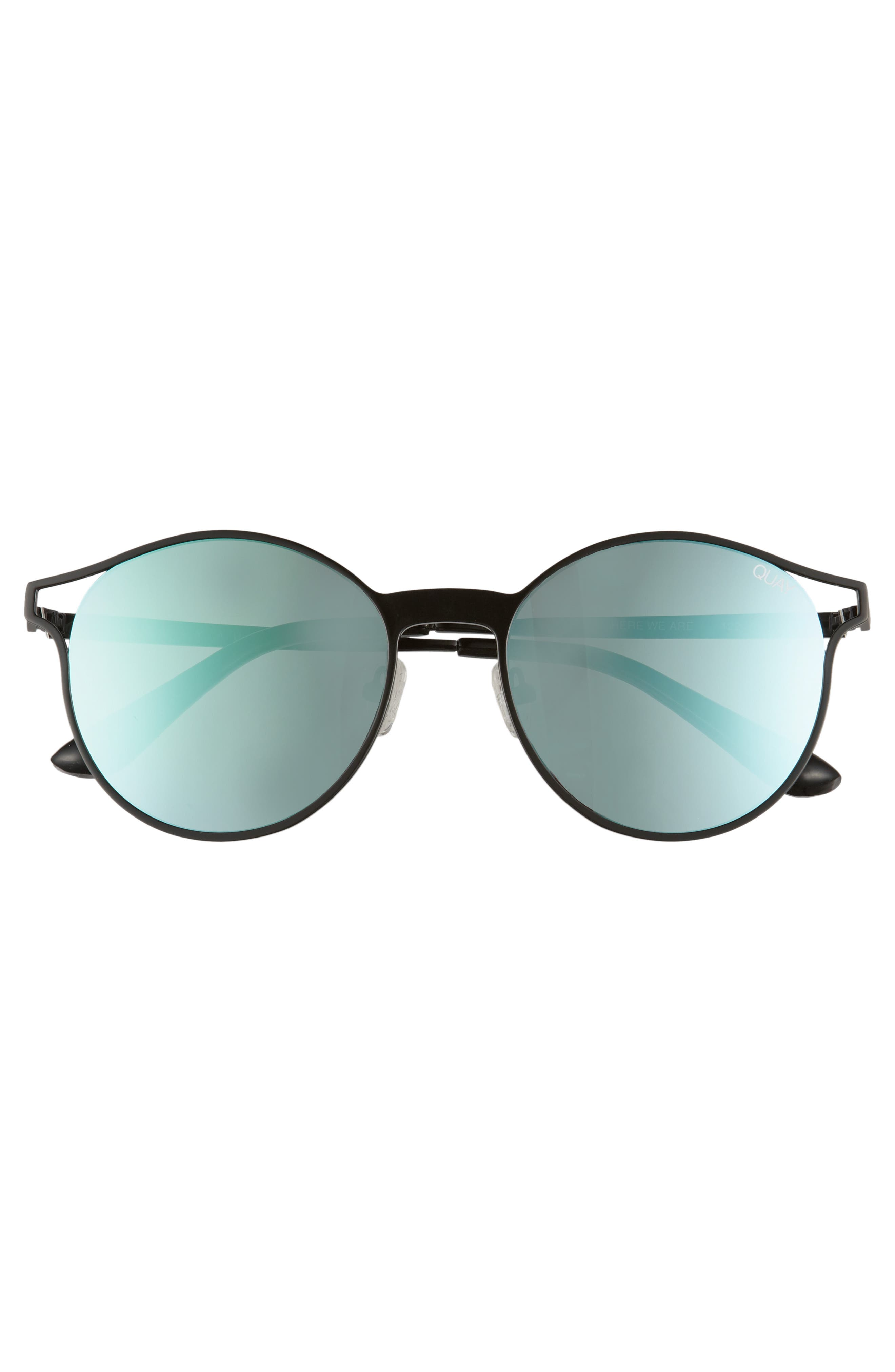 Here We Are 53mm Round Sunglasses,                             Alternate thumbnail 3, color,                             001