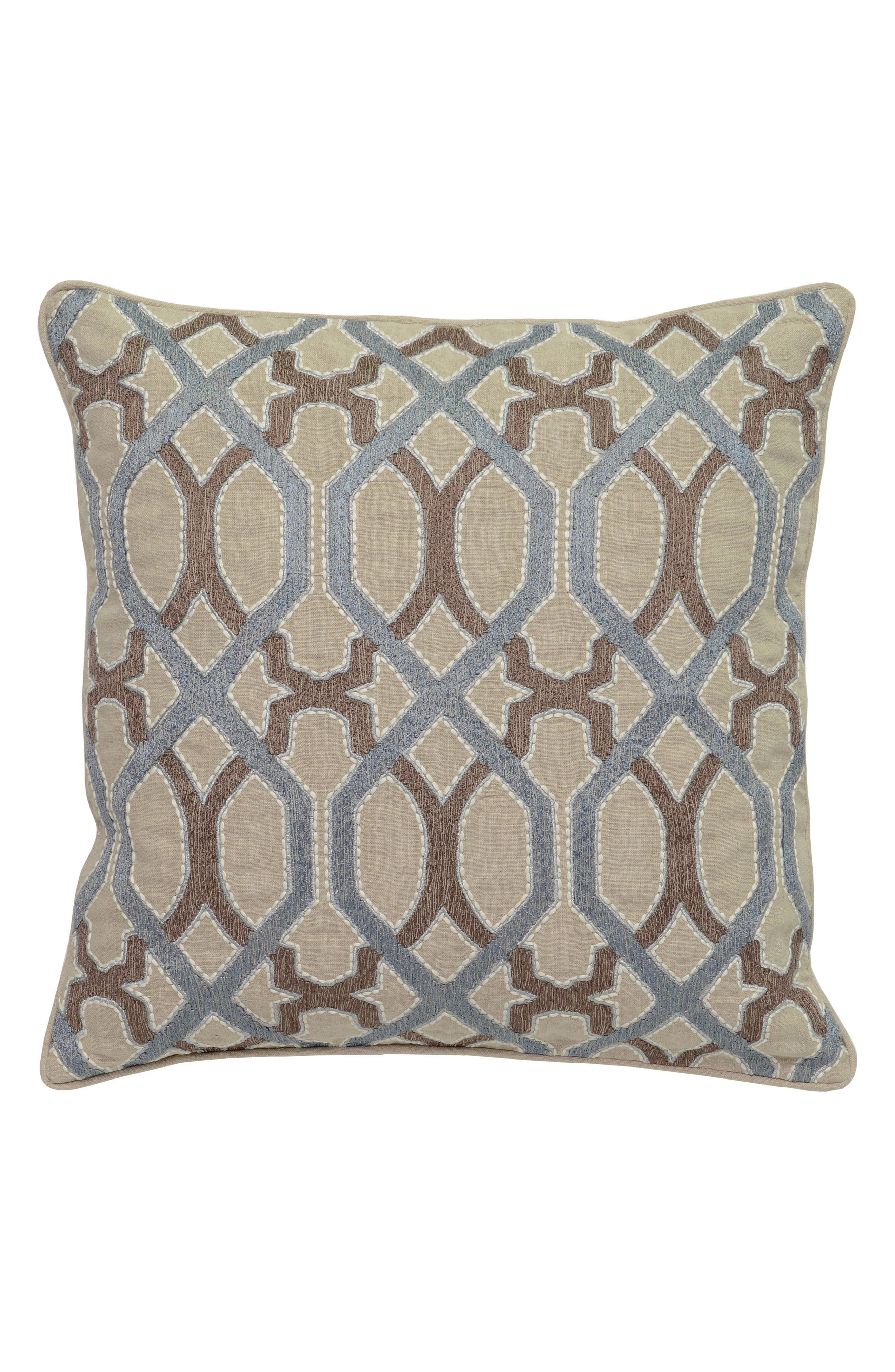 Pearle Accent Pillow,                             Main thumbnail 1, color,                             BLUE/ IVORY