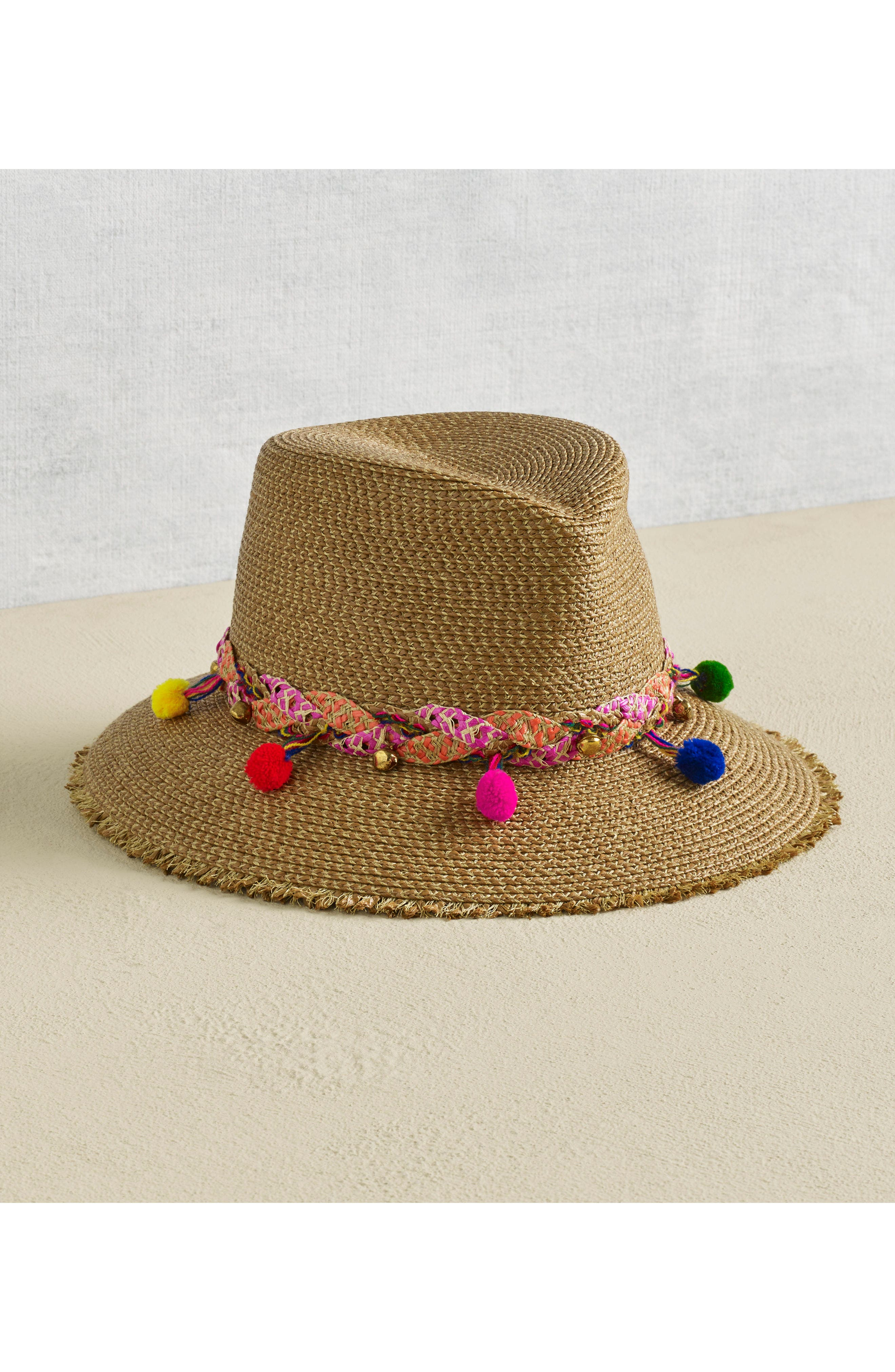 Corfu Packable Squishee<sup>®</sup> Straw Hat,                             Alternate thumbnail 3, color,                             NATURAL MIX