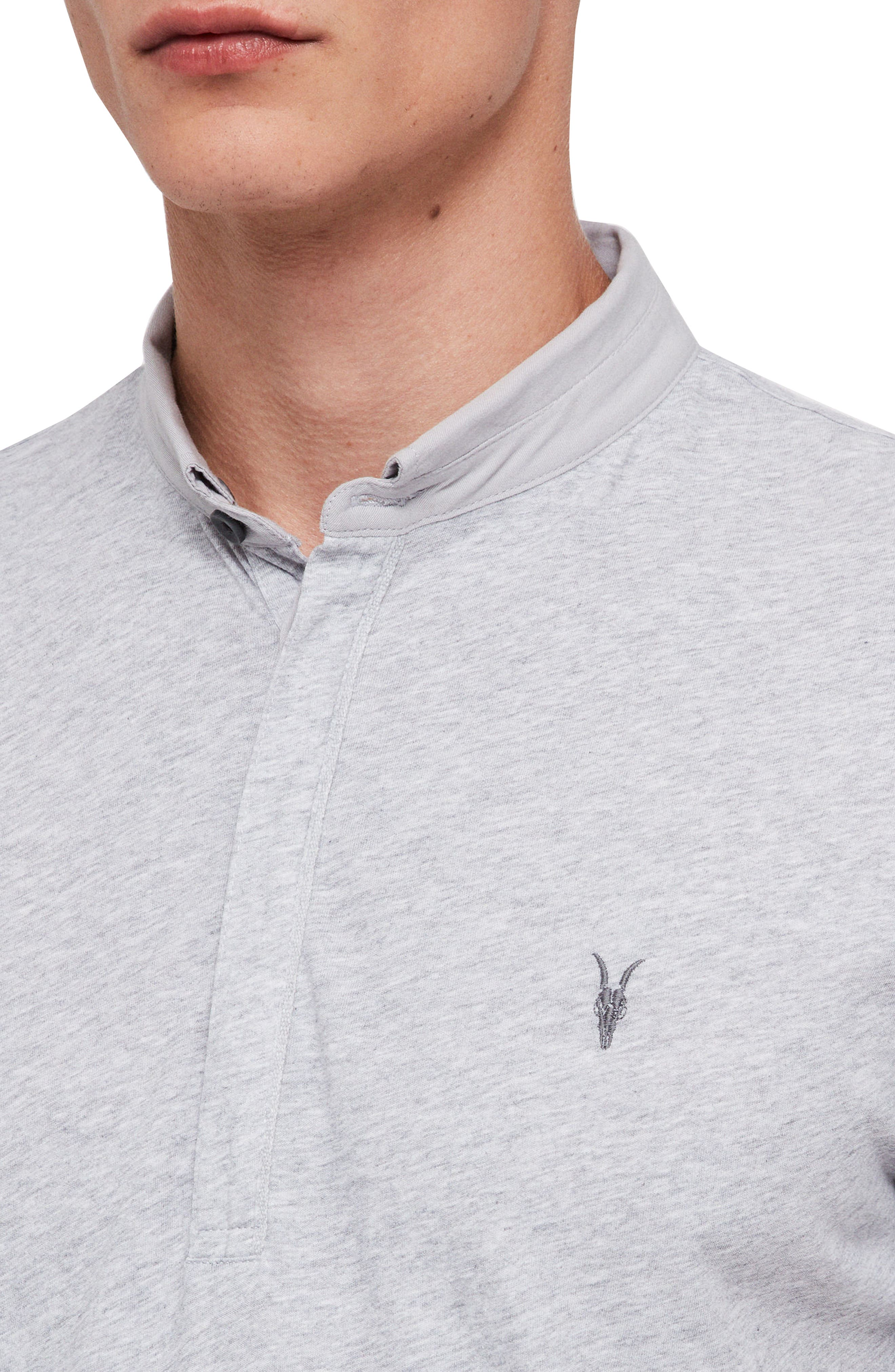 Grail Slim Fit Polo,                             Alternate thumbnail 3, color,                             GREY MARL