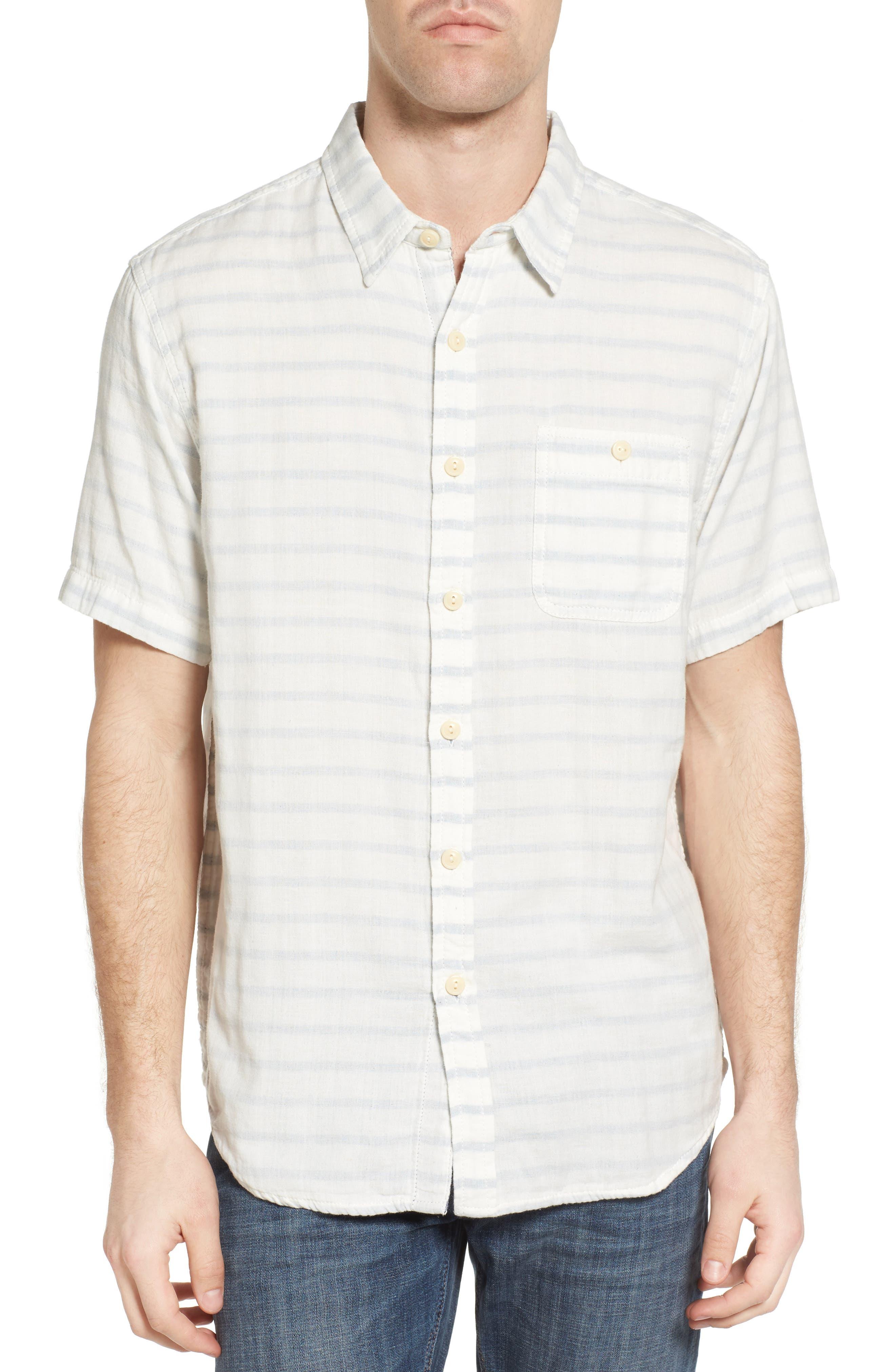 Newport Stripe Sport Shirt,                         Main,                         color, 100