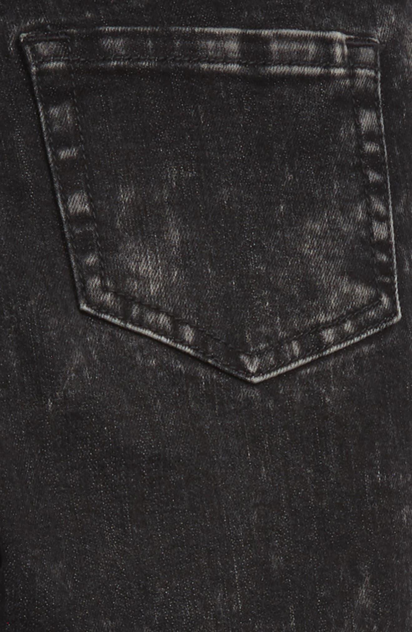 Frayed Step Hem Jeans,                             Alternate thumbnail 3, color,                             001