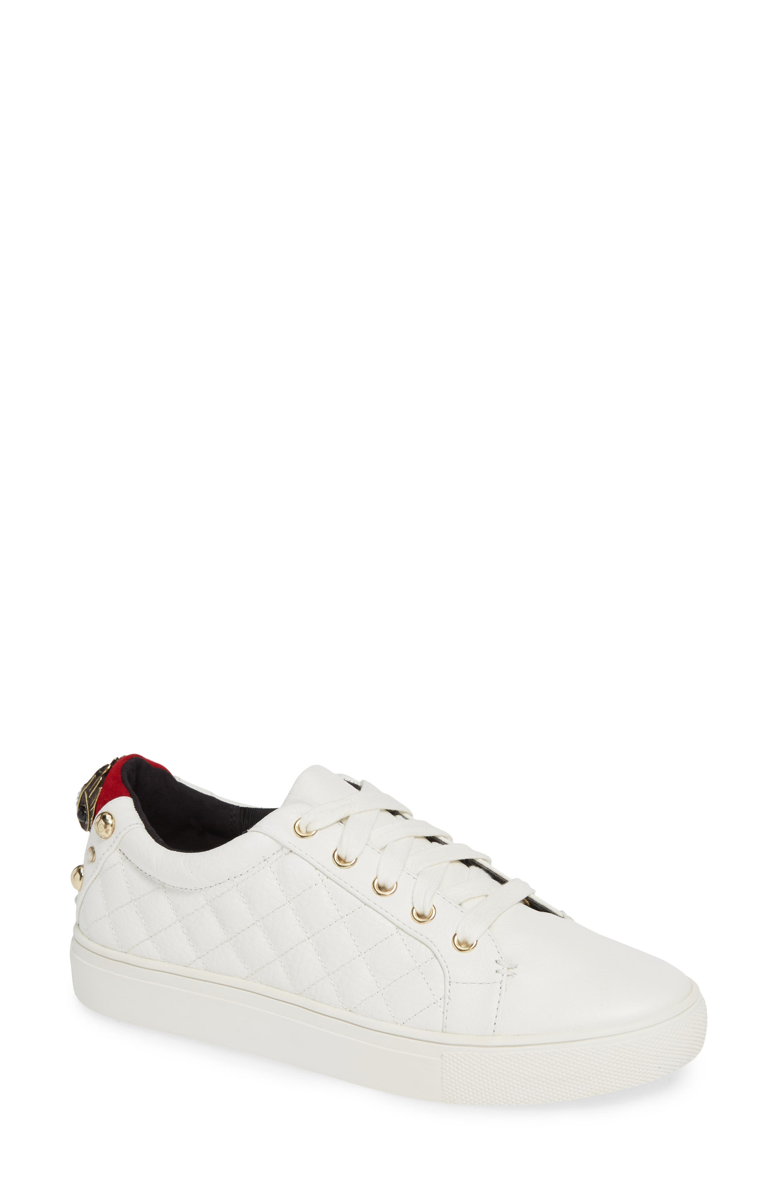KURT GEIGER Women'S Ludo Leather Lace Up Sneakers in White