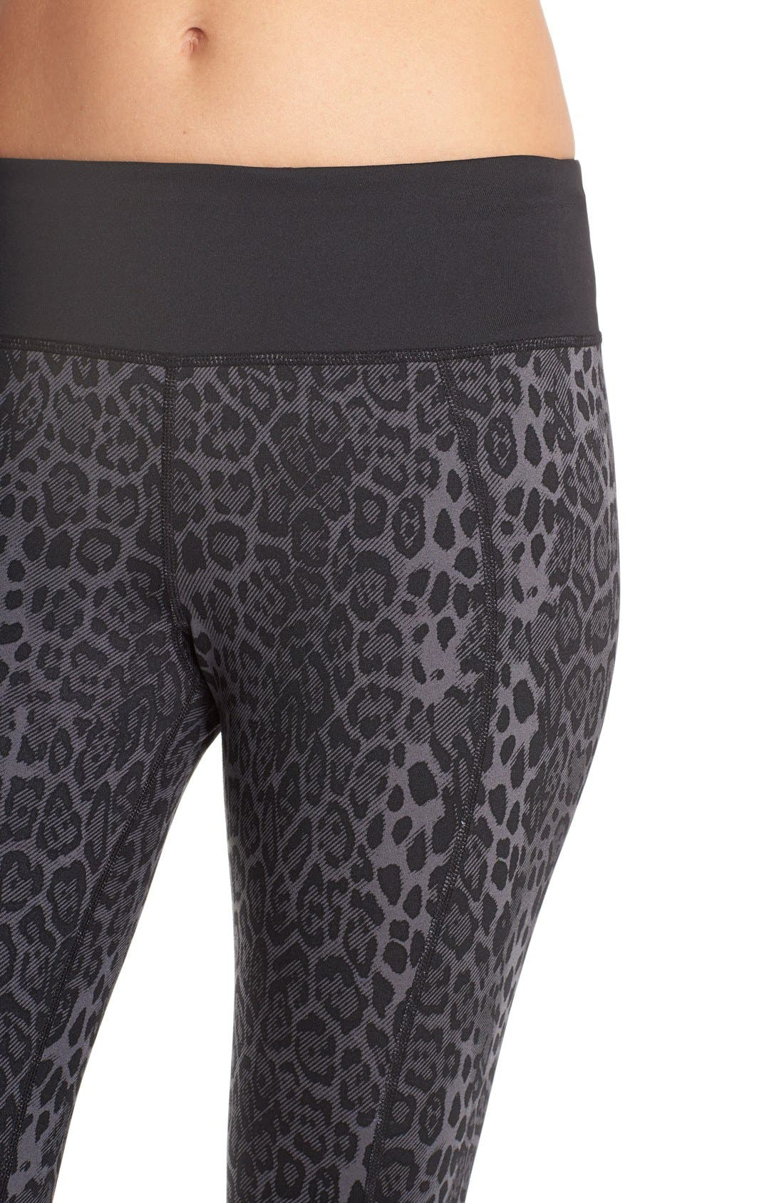 'Stria' Leopard Print Capris,                             Alternate thumbnail 2, color,                             001