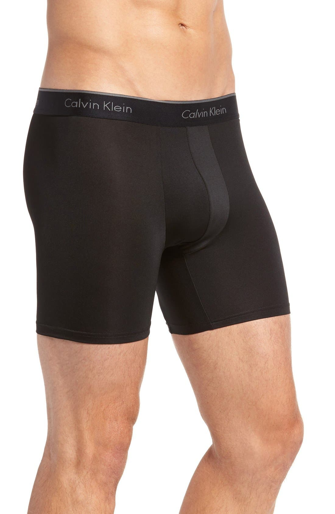3-Pack Stretch Boxer Briefs,                             Alternate thumbnail 4, color,                             BLACK