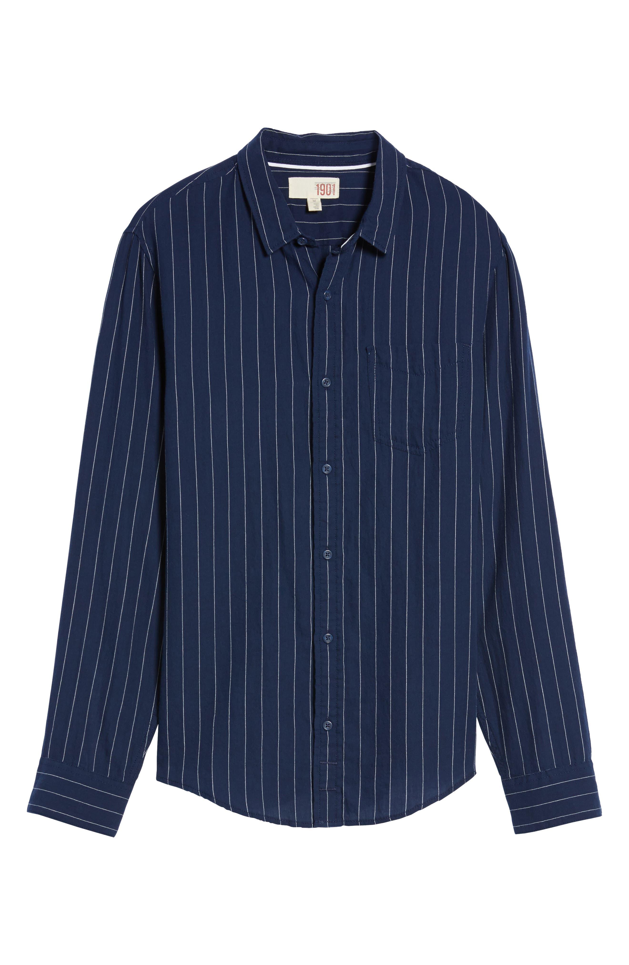 Stripe Twill Shirt,                             Alternate thumbnail 11, color,