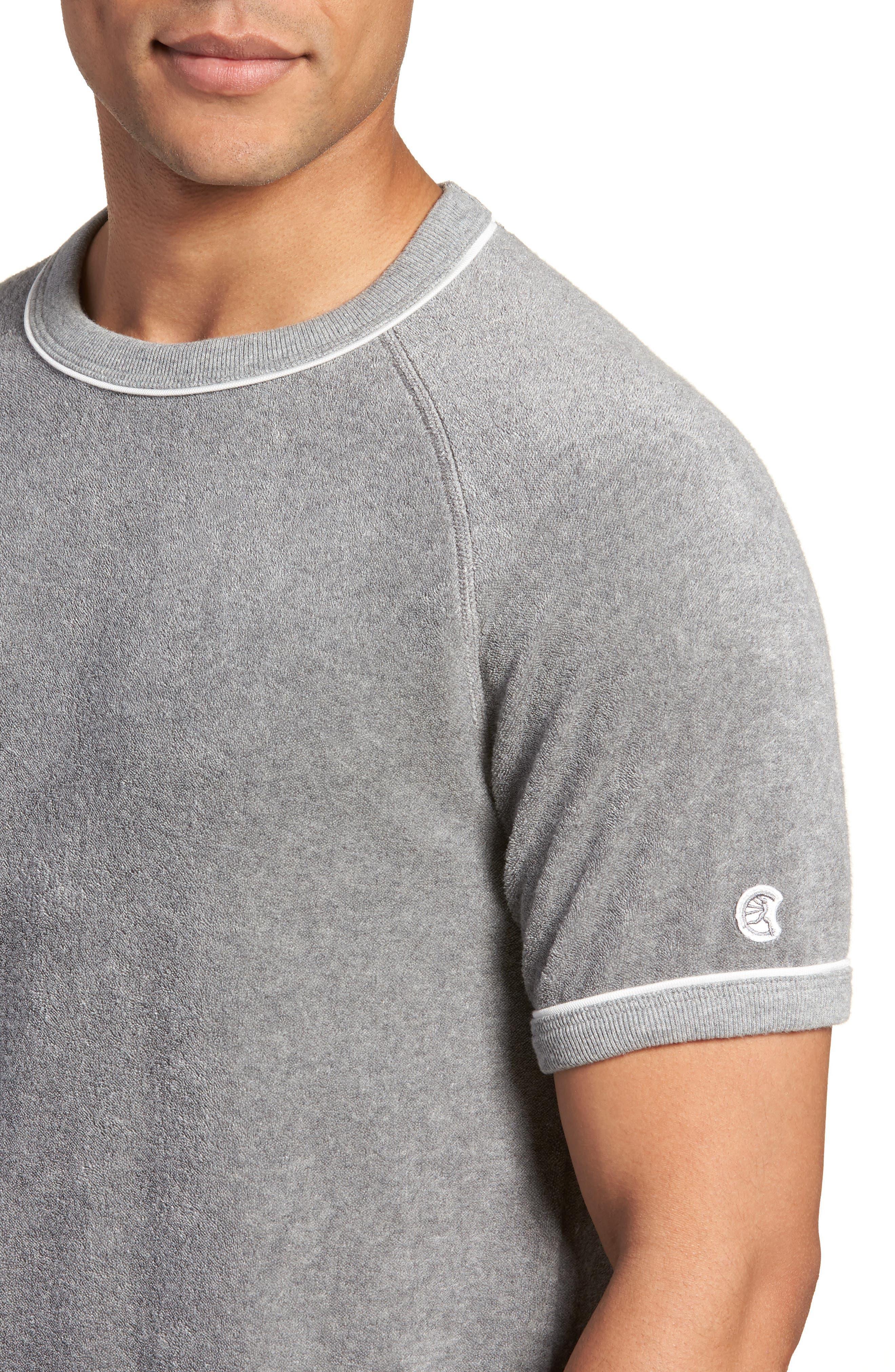 + Champion Short Sleeve Terry Sweatshirt,                             Alternate thumbnail 4, color,                             GREY