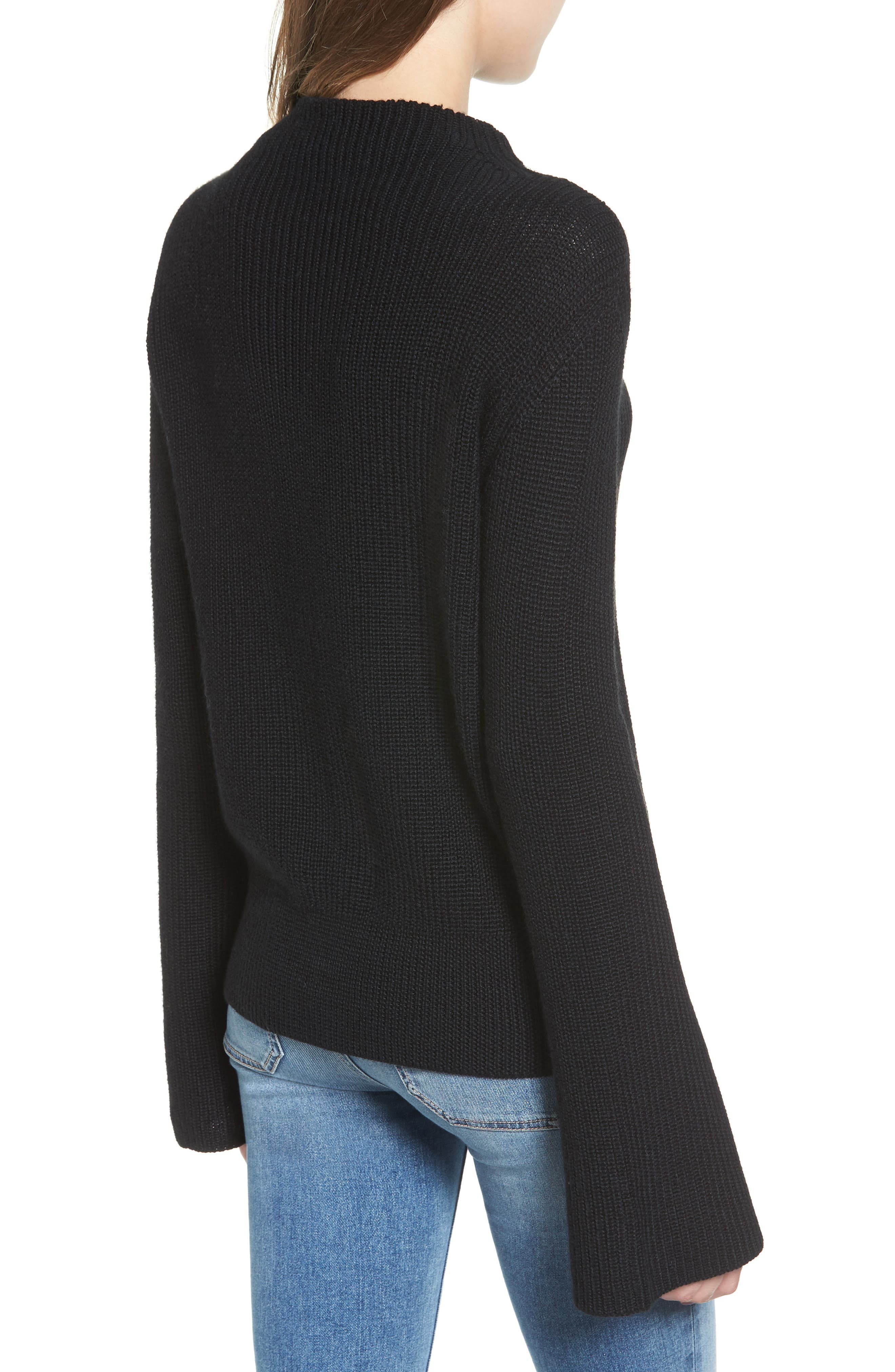 Gracey Mock Neck Sweater,                             Alternate thumbnail 2, color,                             001