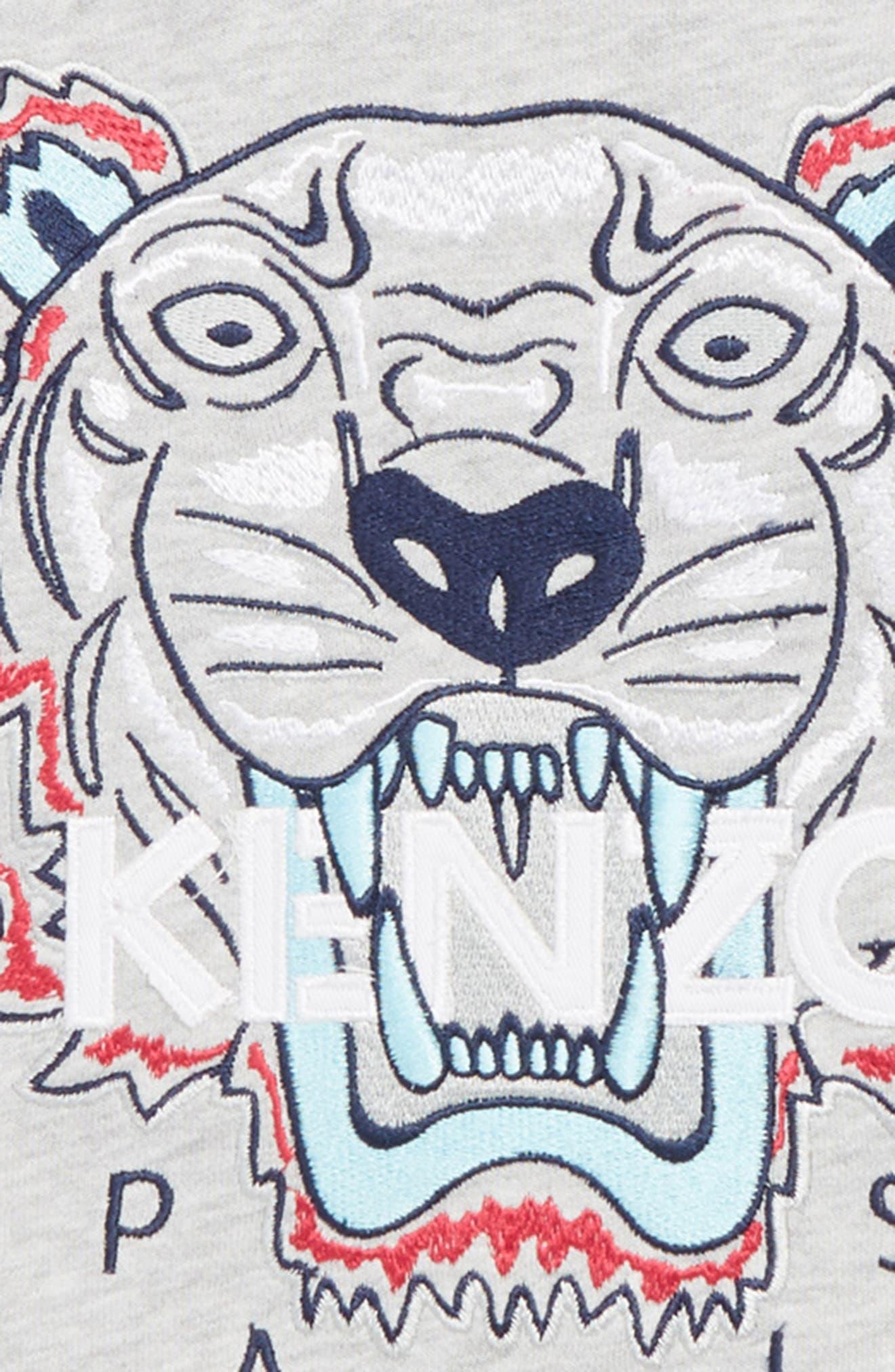 Embroidered Tiger Logo Sweatshirt,                             Alternate thumbnail 2, color,                             088