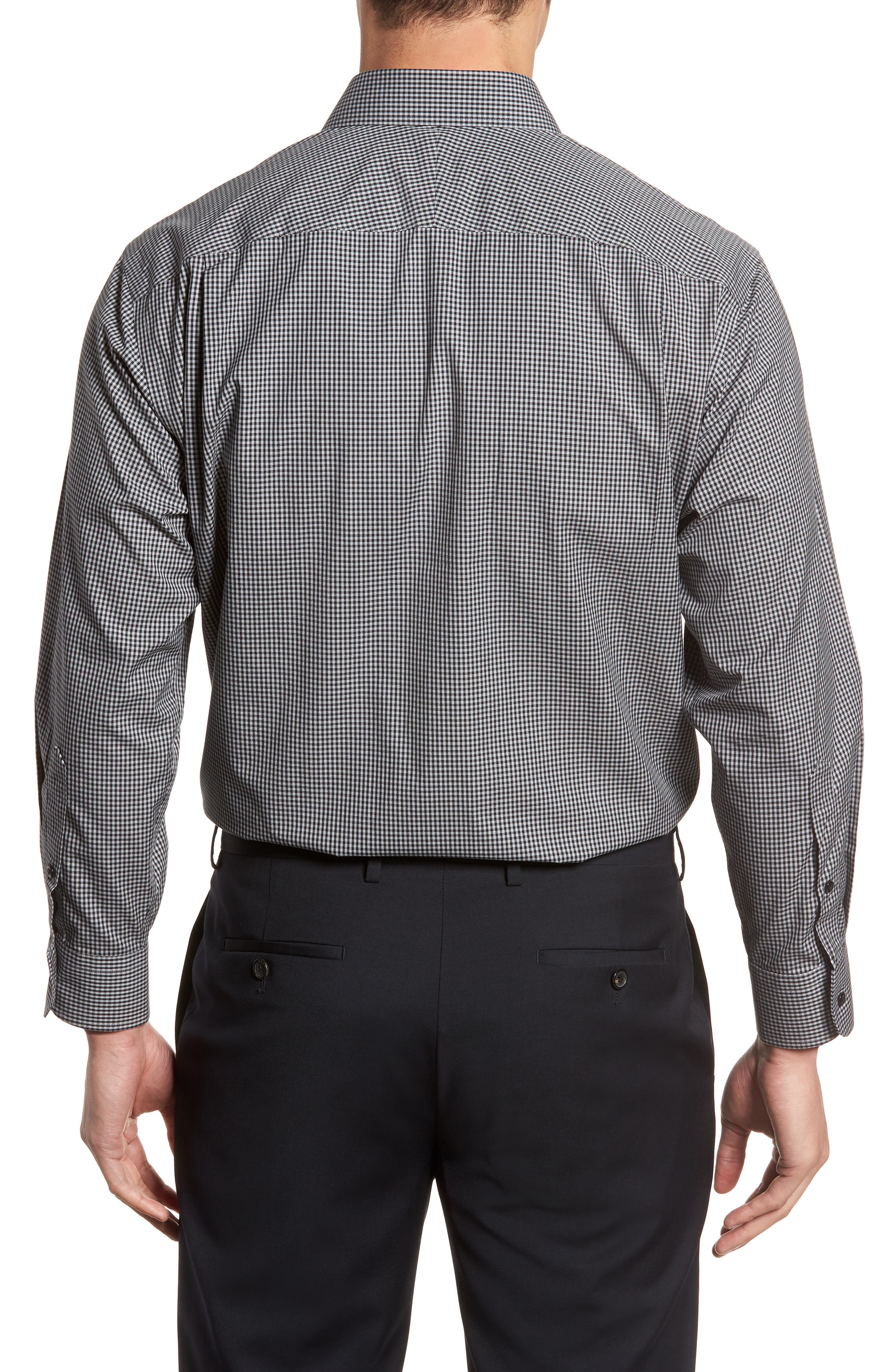 Smartcare Classic Fit Check Dress Shirt,                             Alternate thumbnail 9, color,