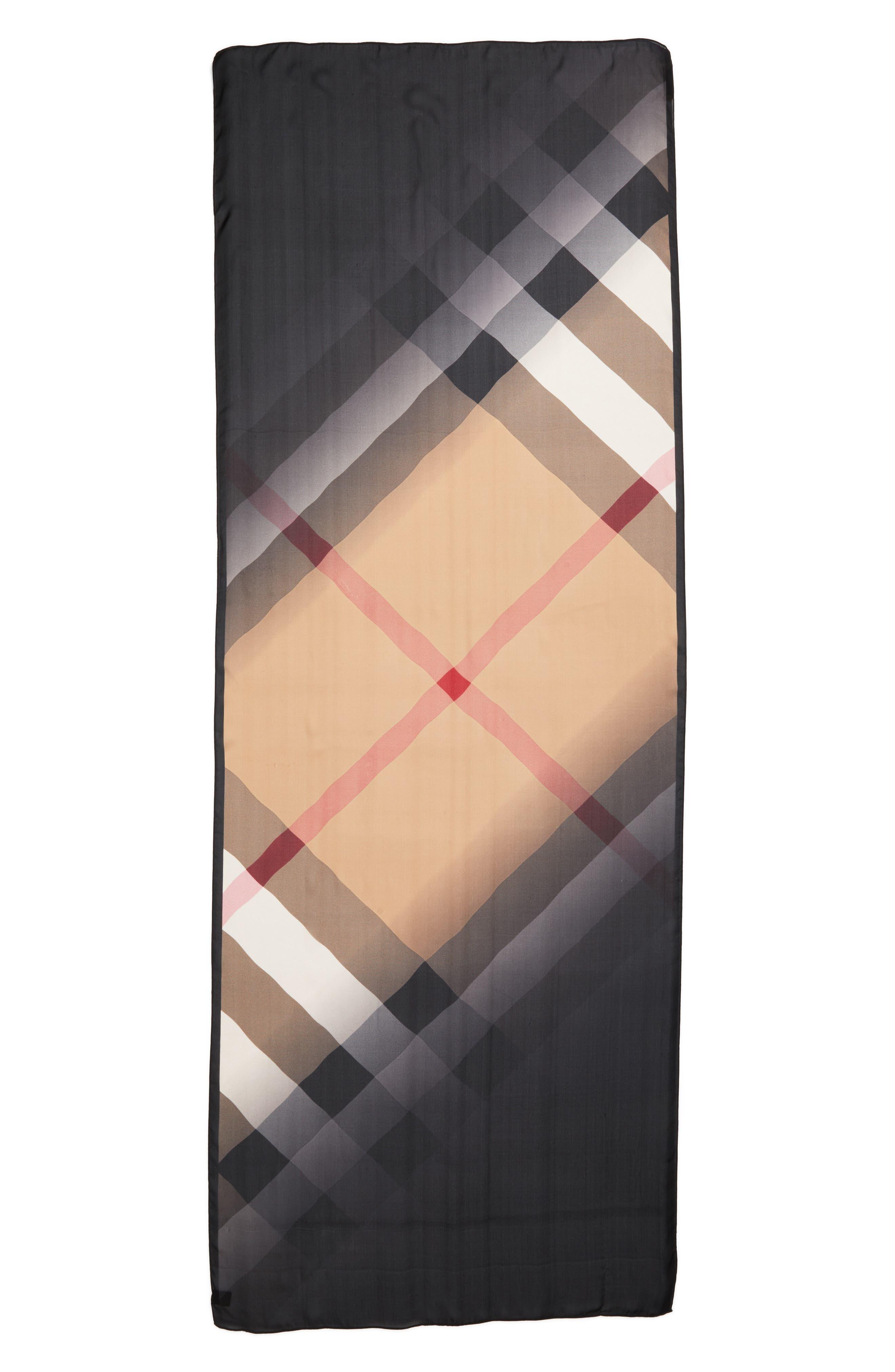 Ombré Check Silk Scarf,                         Main,                         color, 231