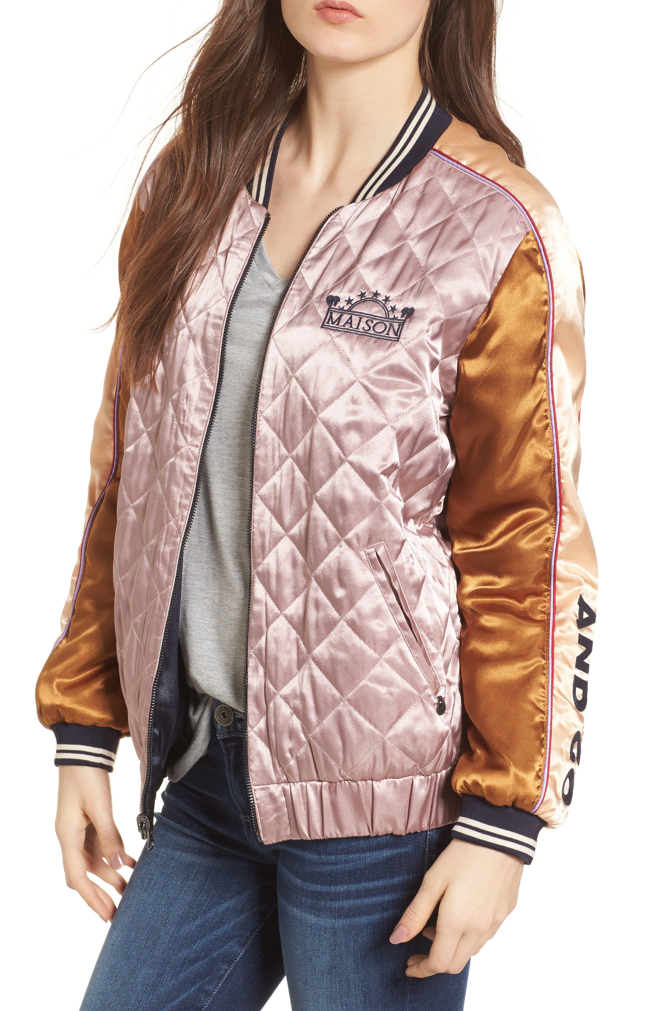 Reversible Varsity Jacket,                         Main,                         color, 650