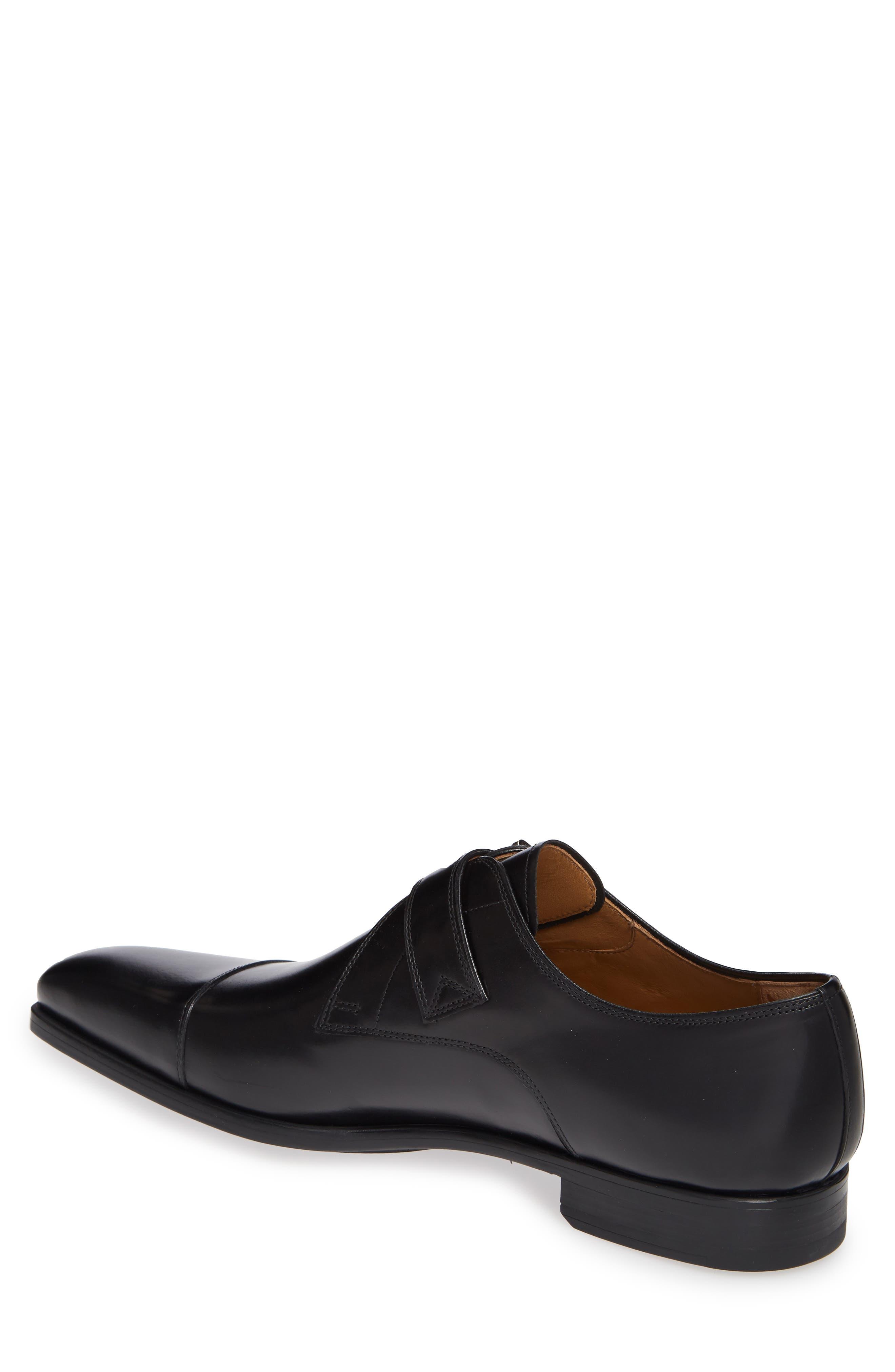 Patricio Monk Strap Shoe,                             Alternate thumbnail 2, color,                             BLACK LEATHER