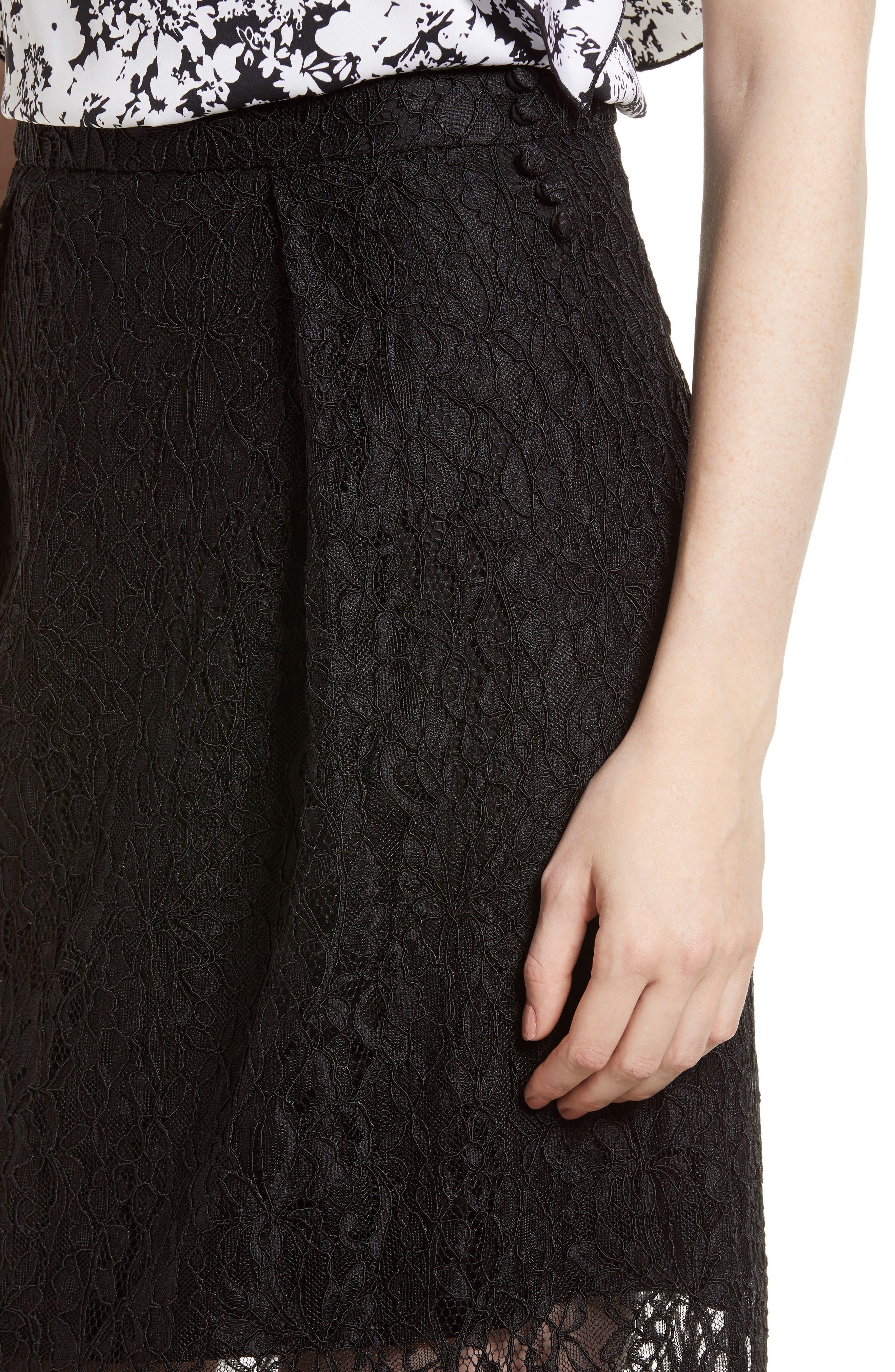 Lace Midi Skirt,                             Alternate thumbnail 4, color,