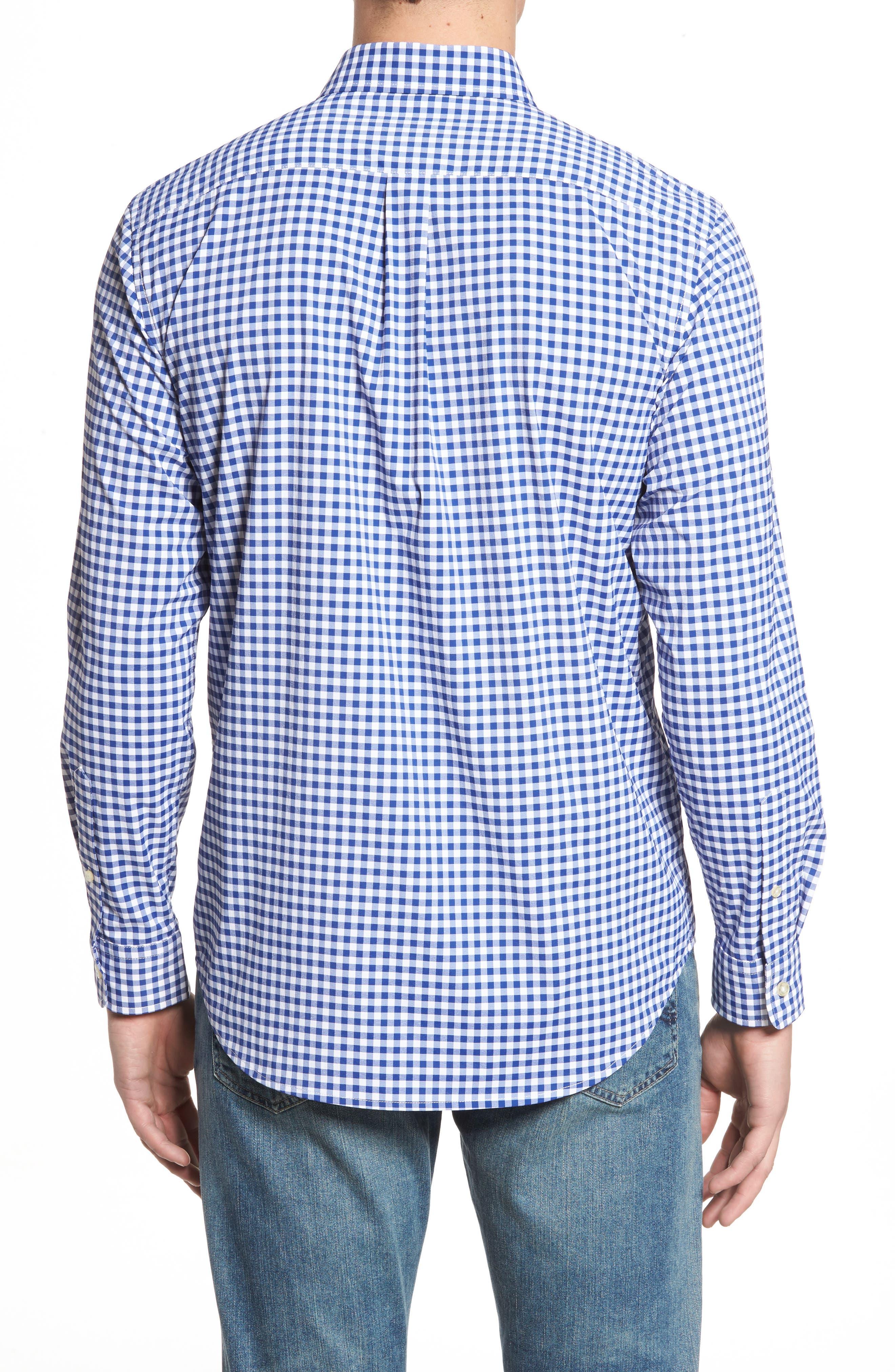 Ferndale Tucker Classic Fit Gingham Sport Shirt,                             Alternate thumbnail 2, color,                             461