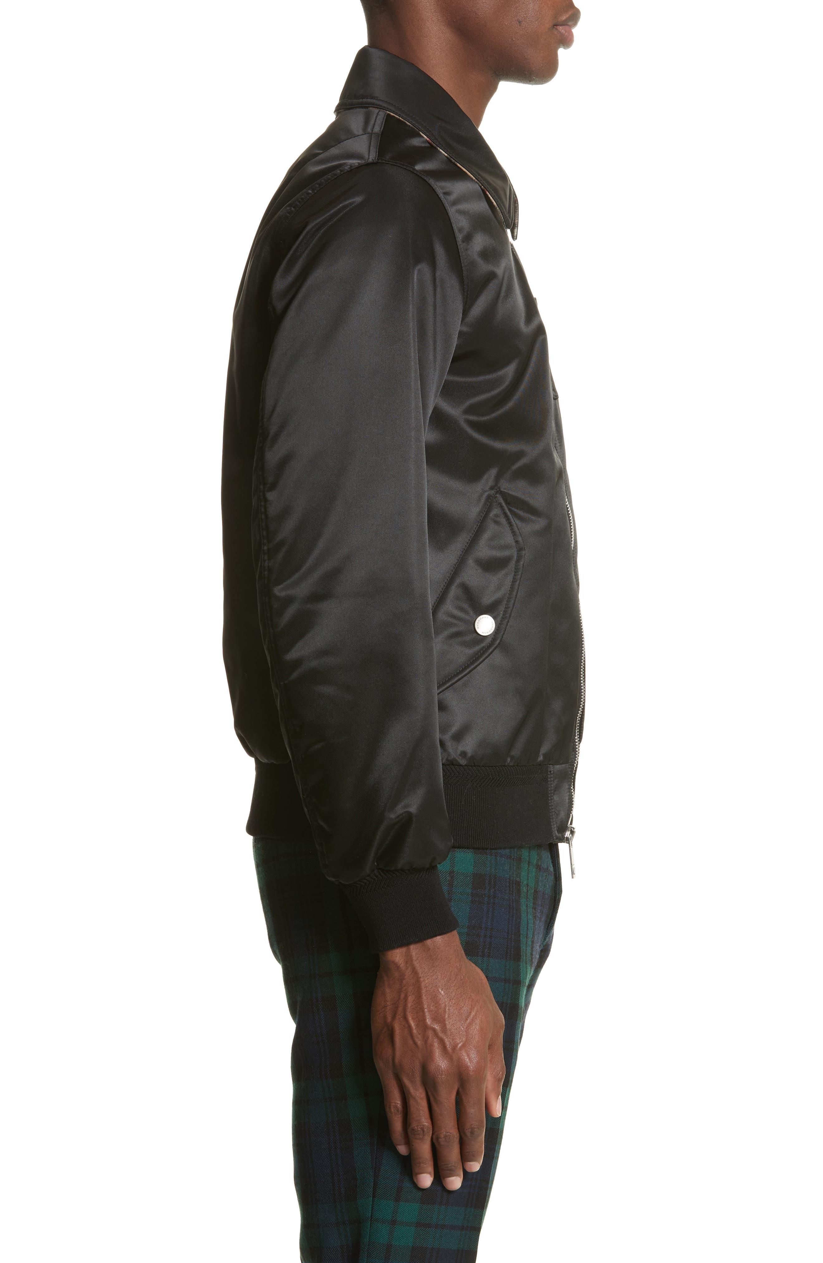 Pipley Spread Collar Bomber Jacket,                             Alternate thumbnail 3, color,                             001