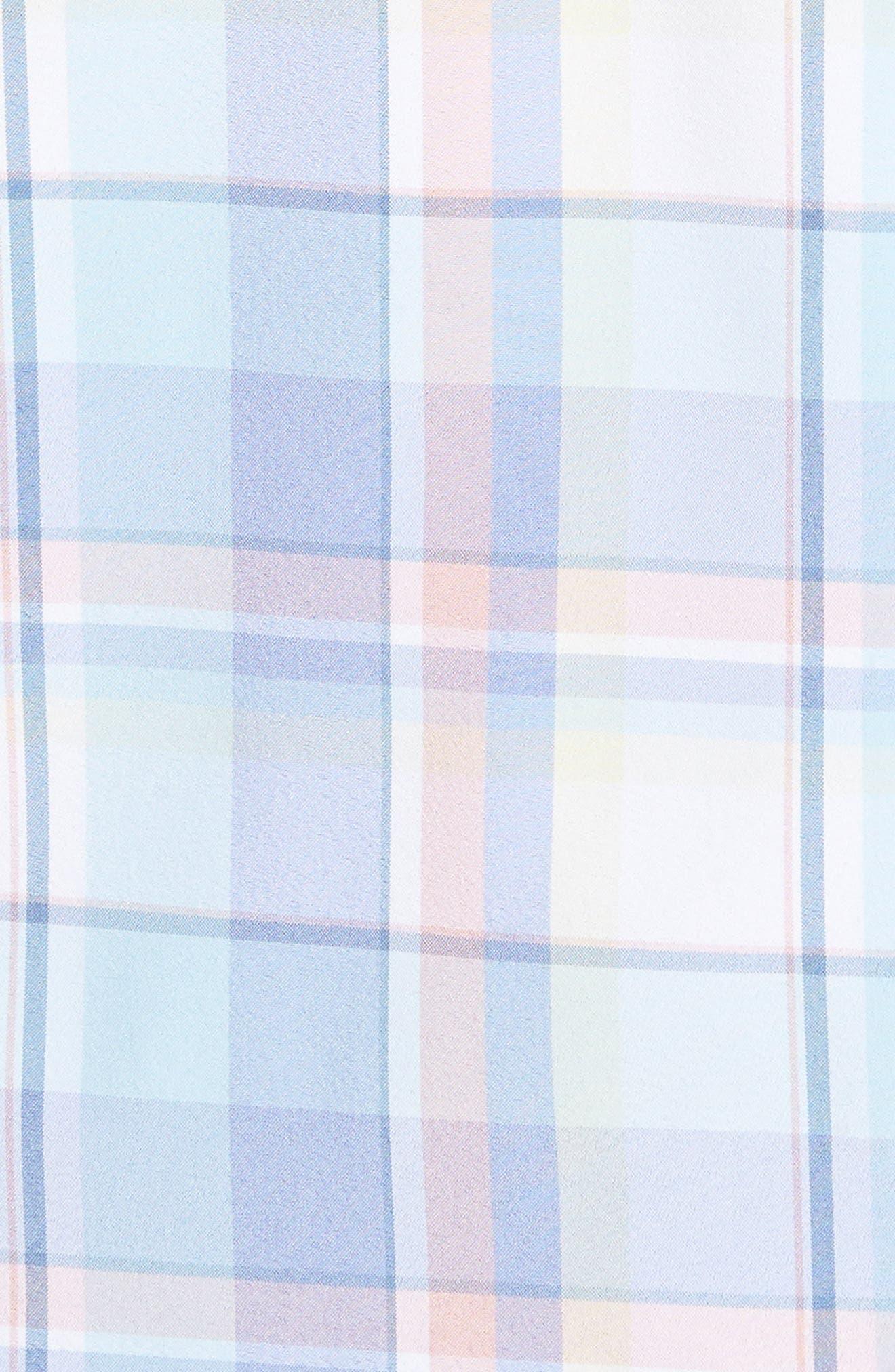 MIZZEN+MAIN,                             Wheeler Plaid Performance Sport Shirt,                             Alternate thumbnail 5, color,                             486