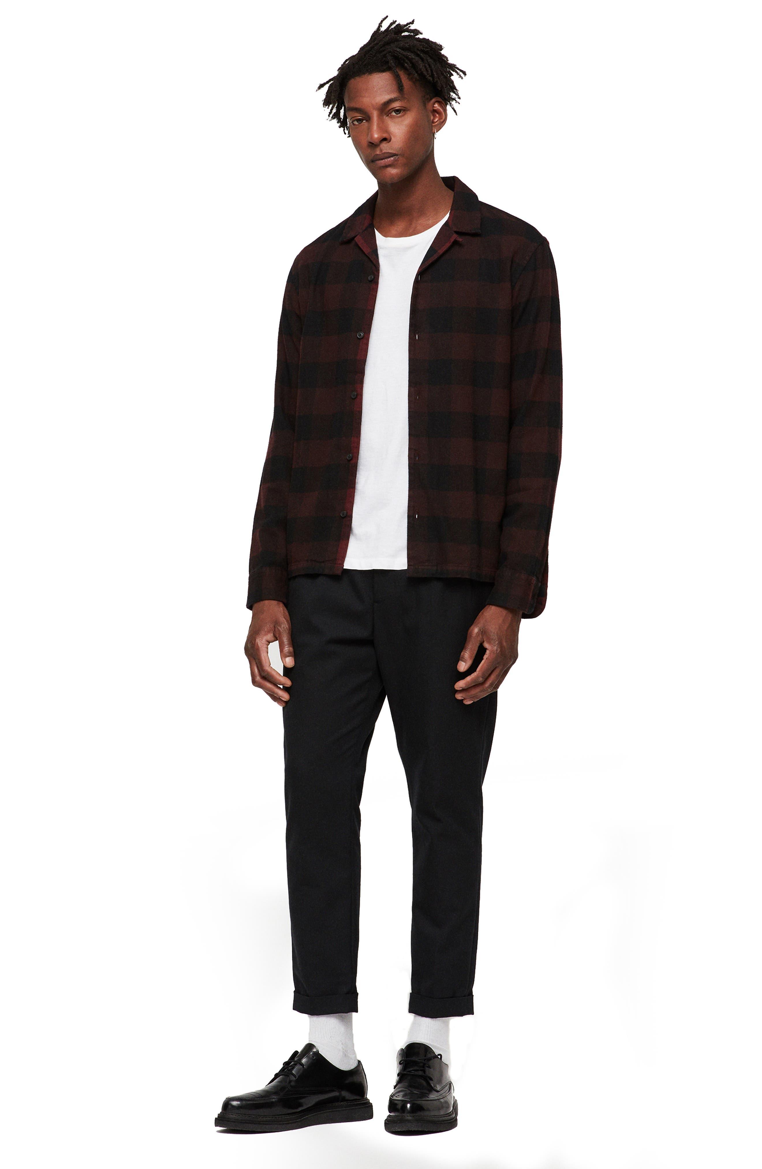 Boulder Slim Fit Shirt,                             Alternate thumbnail 3, color,                             RED