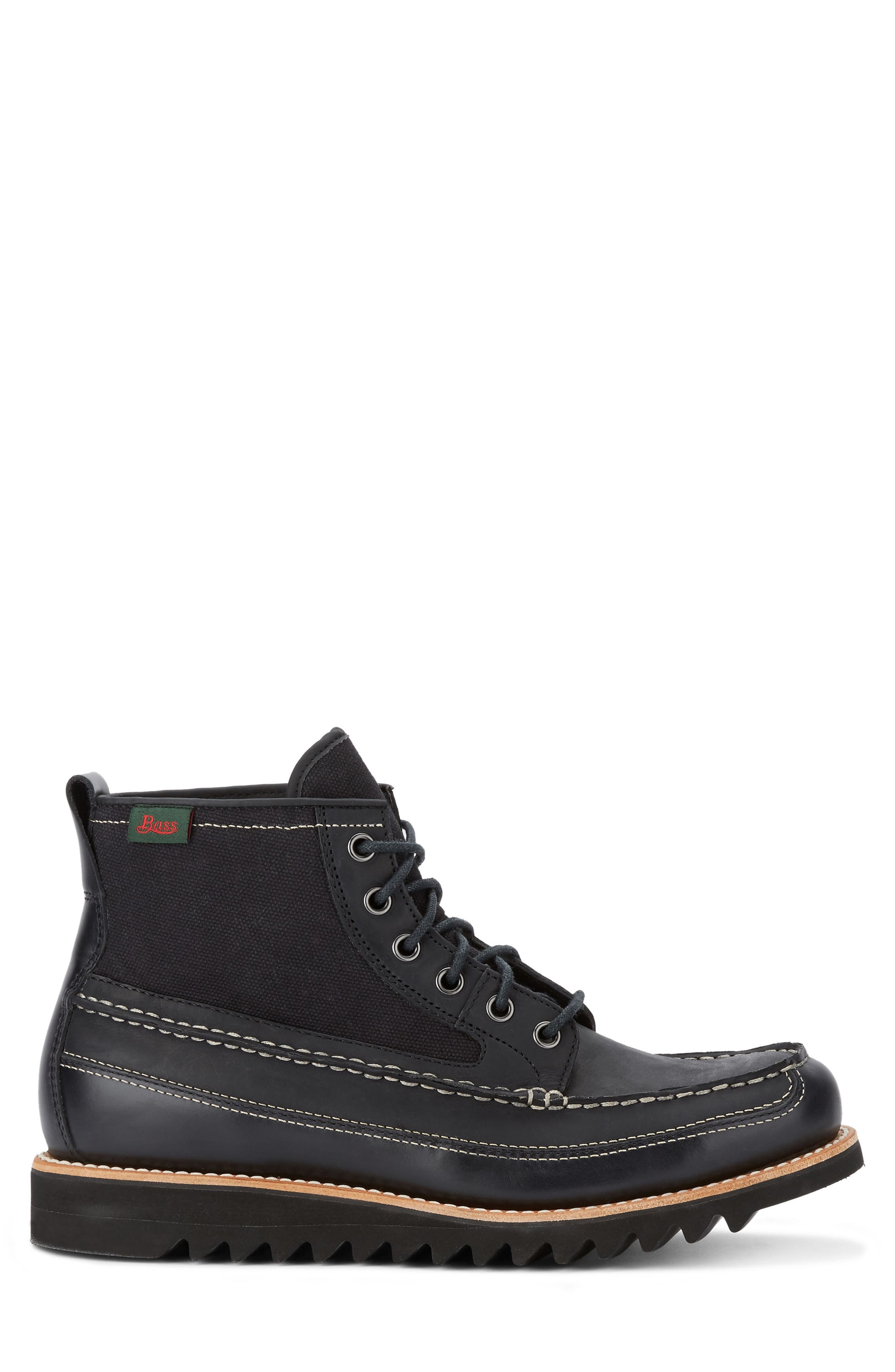 Nickson Razor Moc Toe Boot,                             Alternate thumbnail 3, color,                             001