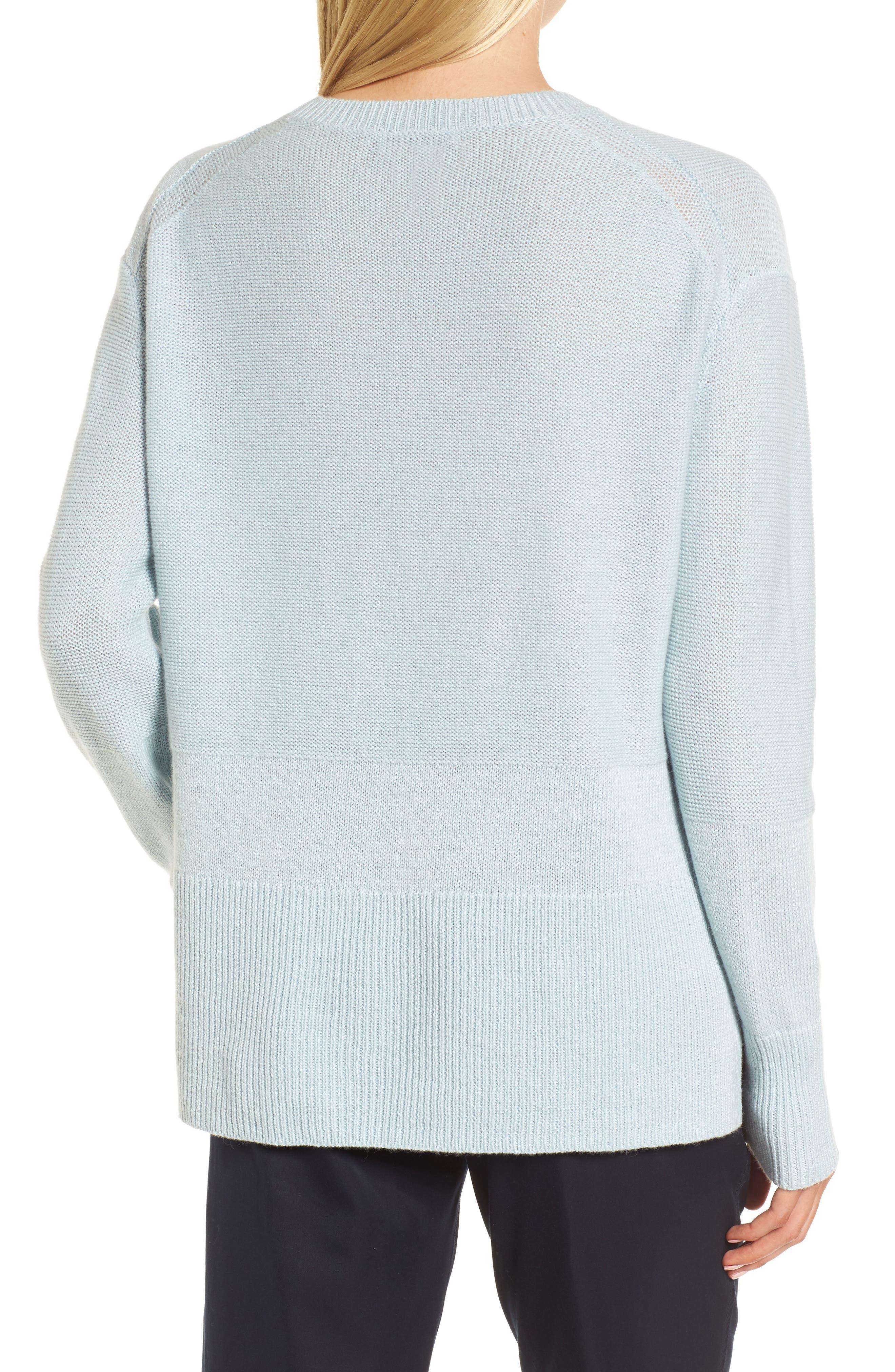Linen & Cashmere Sweater,                             Alternate thumbnail 3, color,