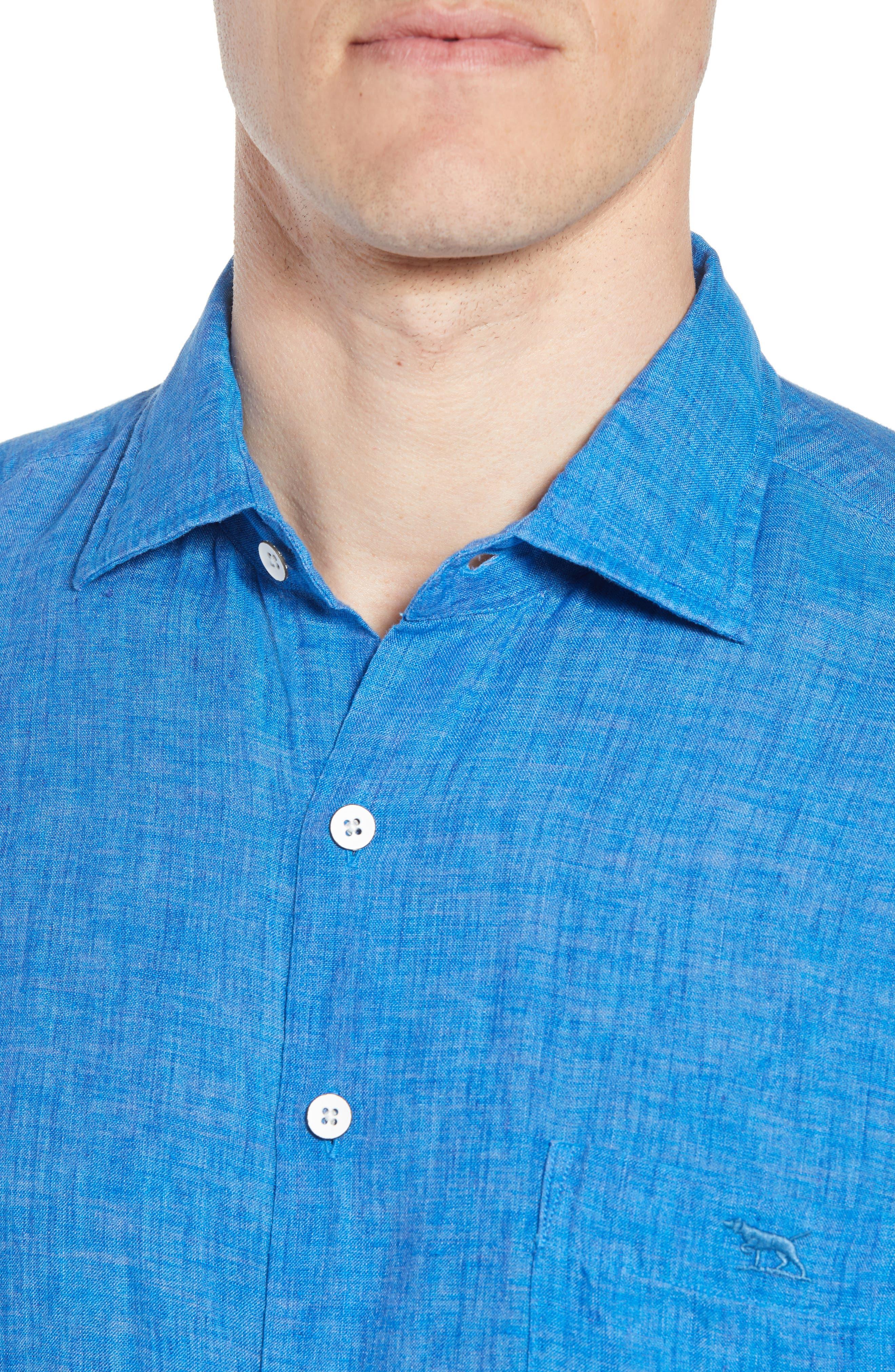 RODD & GUNN,                             Harris Bay Regular Fit Linen Sport Shirt,                             Alternate thumbnail 4, color,                             438