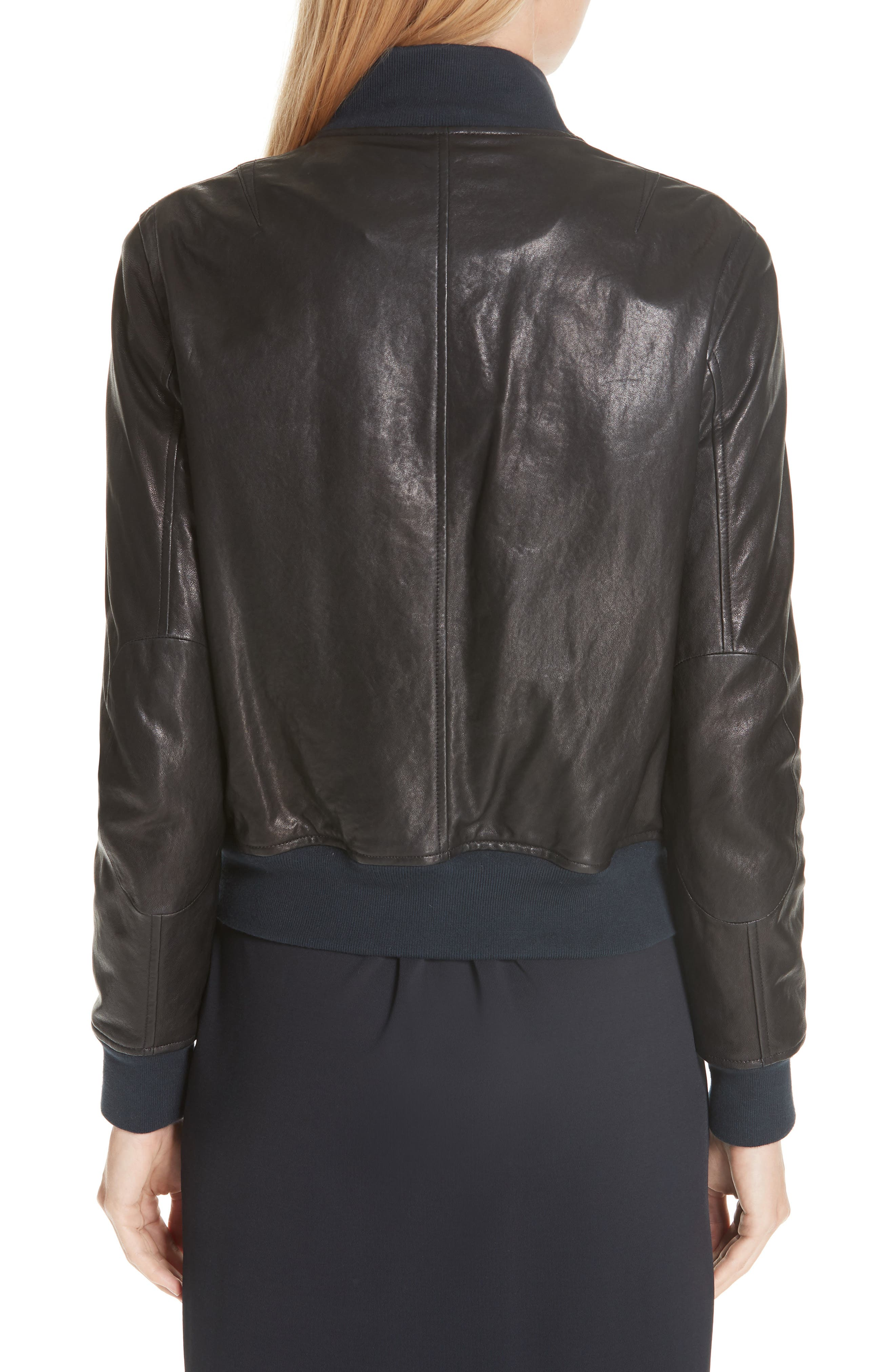 Mila Lambskin Leather Jacket,                             Alternate thumbnail 2, color,                             001