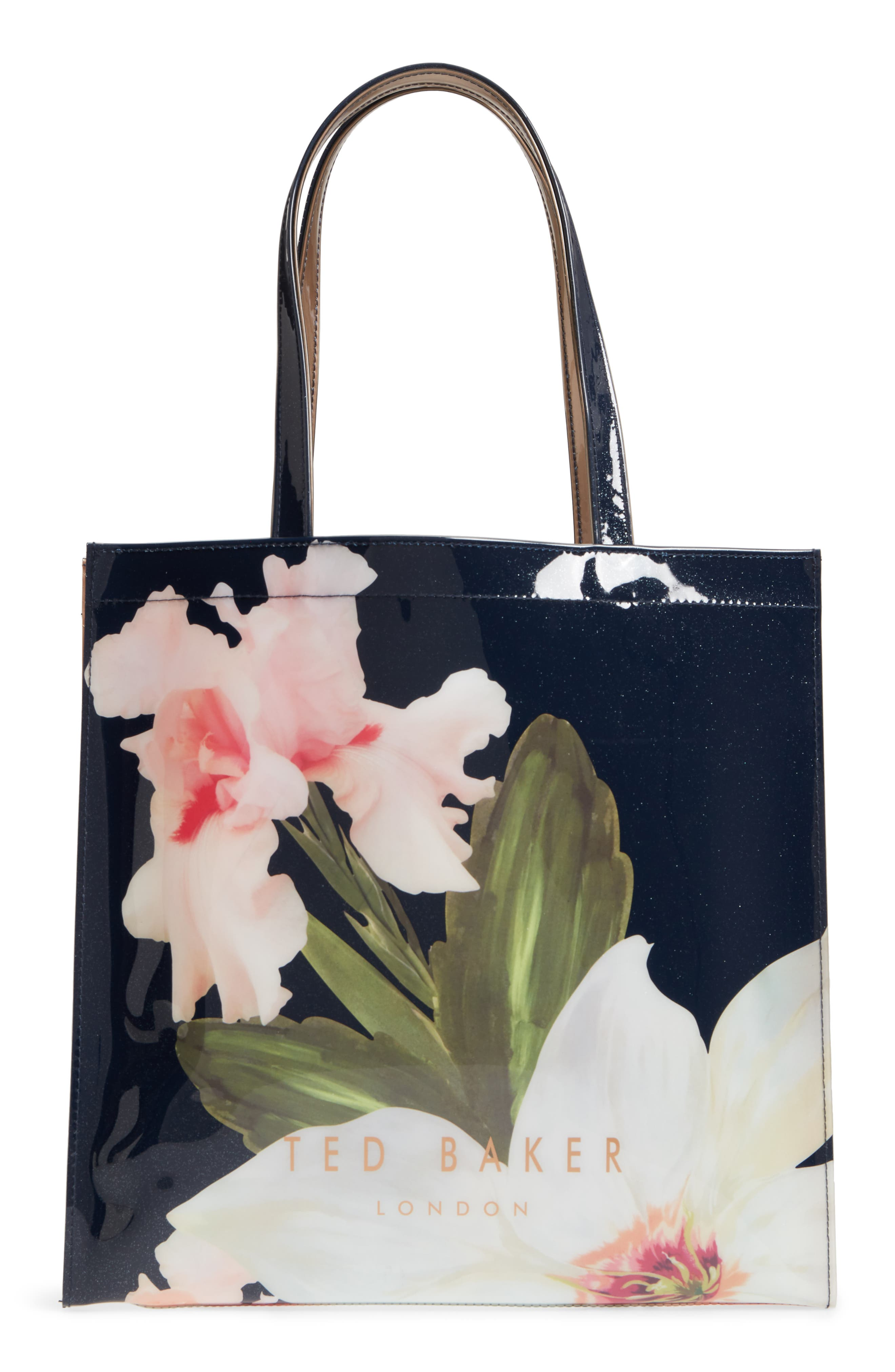 Hermcon Chatsworth Bloom Large Icon Tote,                             Alternate thumbnail 3, color,                             400