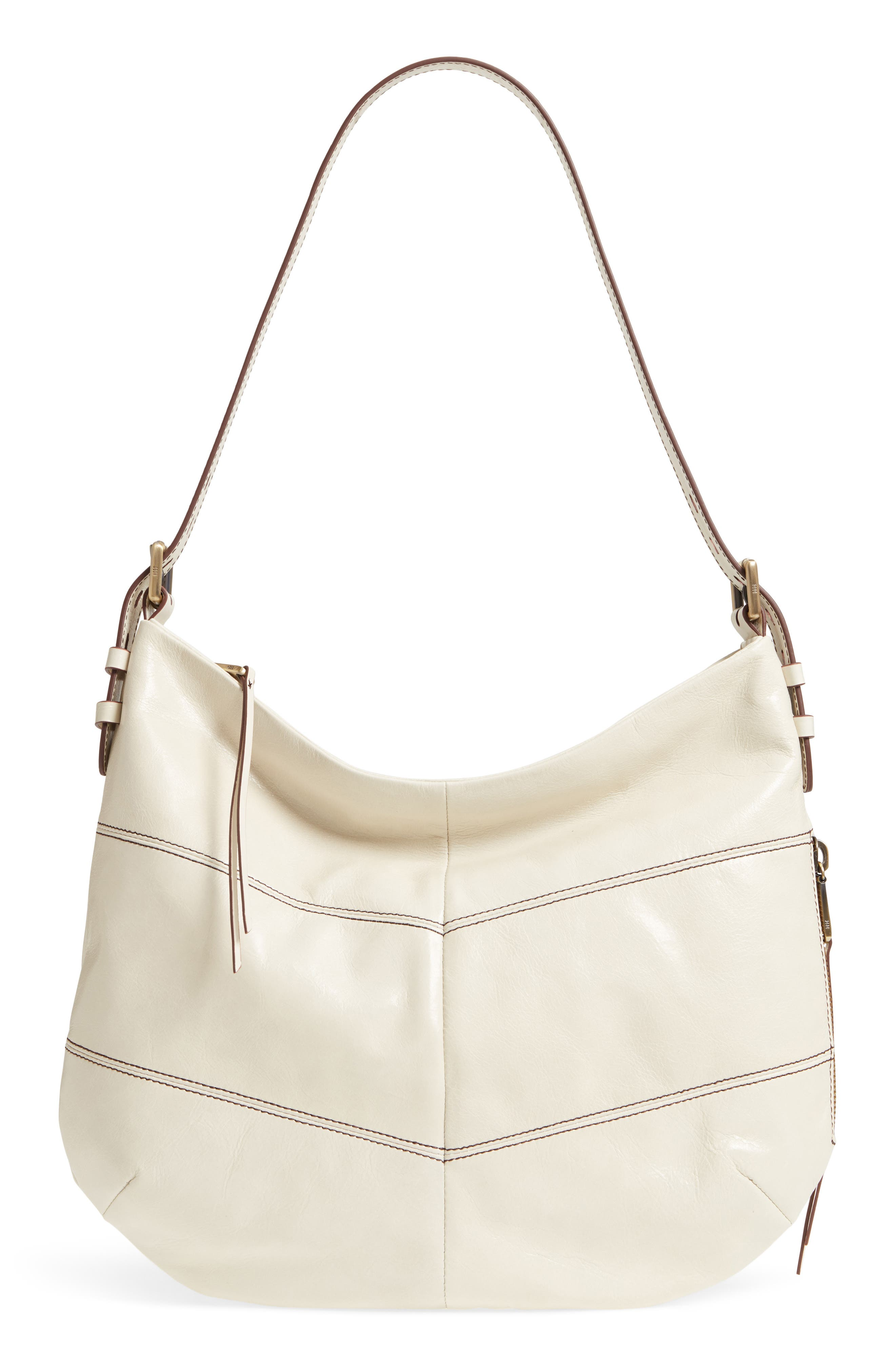 Serra Leather Hobo Bag,                         Main,                         color, 100