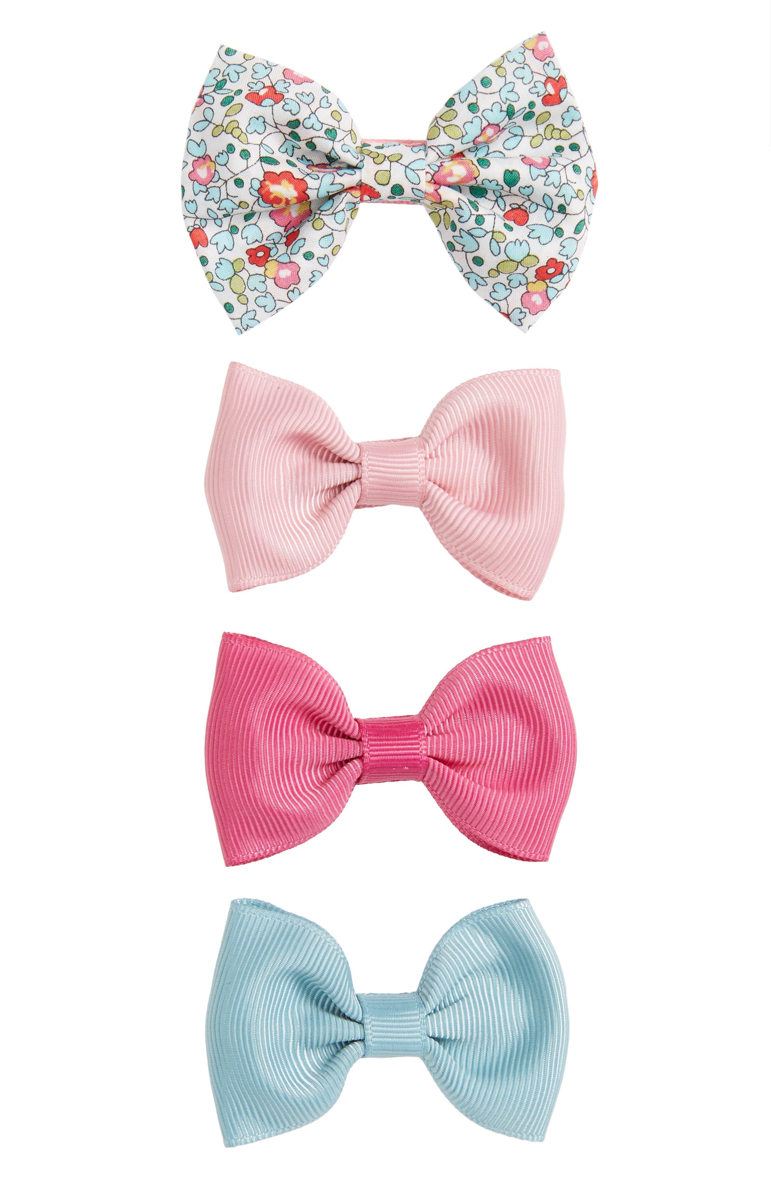 4-Piece Bows Hair Clip Set,                         Main,                         color,