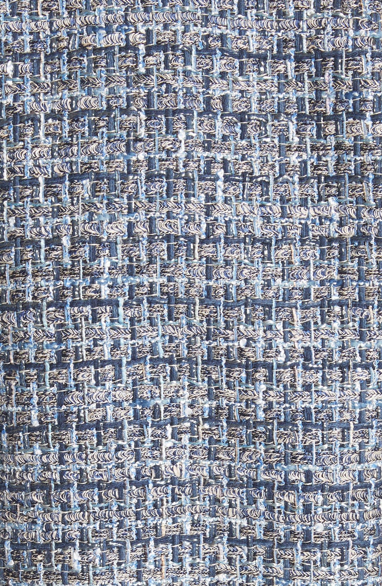 Saria Tweed Drop Waist Dress,                             Alternate thumbnail 5, color,