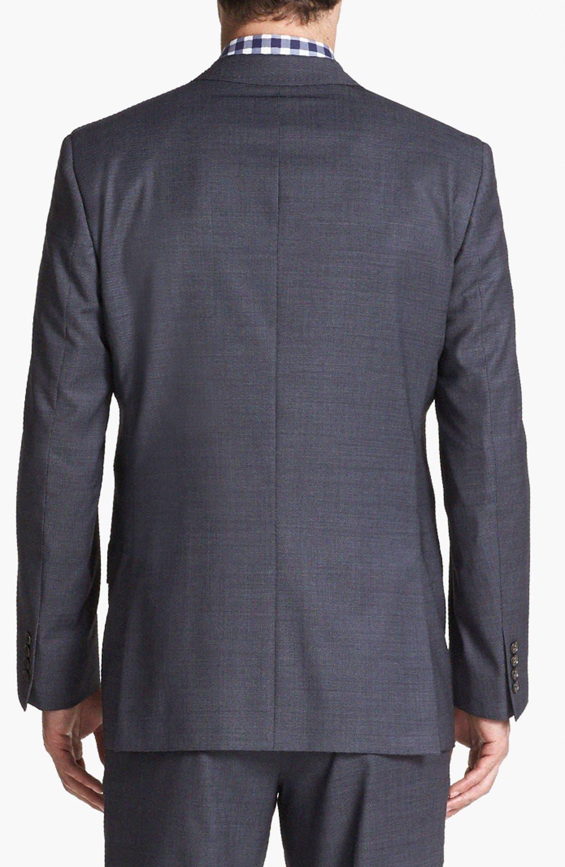 Jones Trim Fit Wool Suit,                             Alternate thumbnail 18, color,