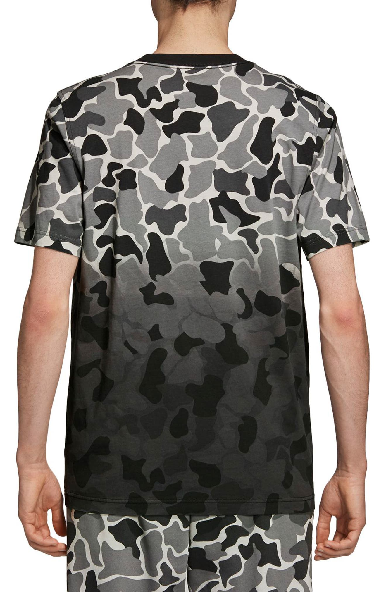 Camo Dip Dye T-Shirt,                             Alternate thumbnail 2, color,                             MULTICOLOR