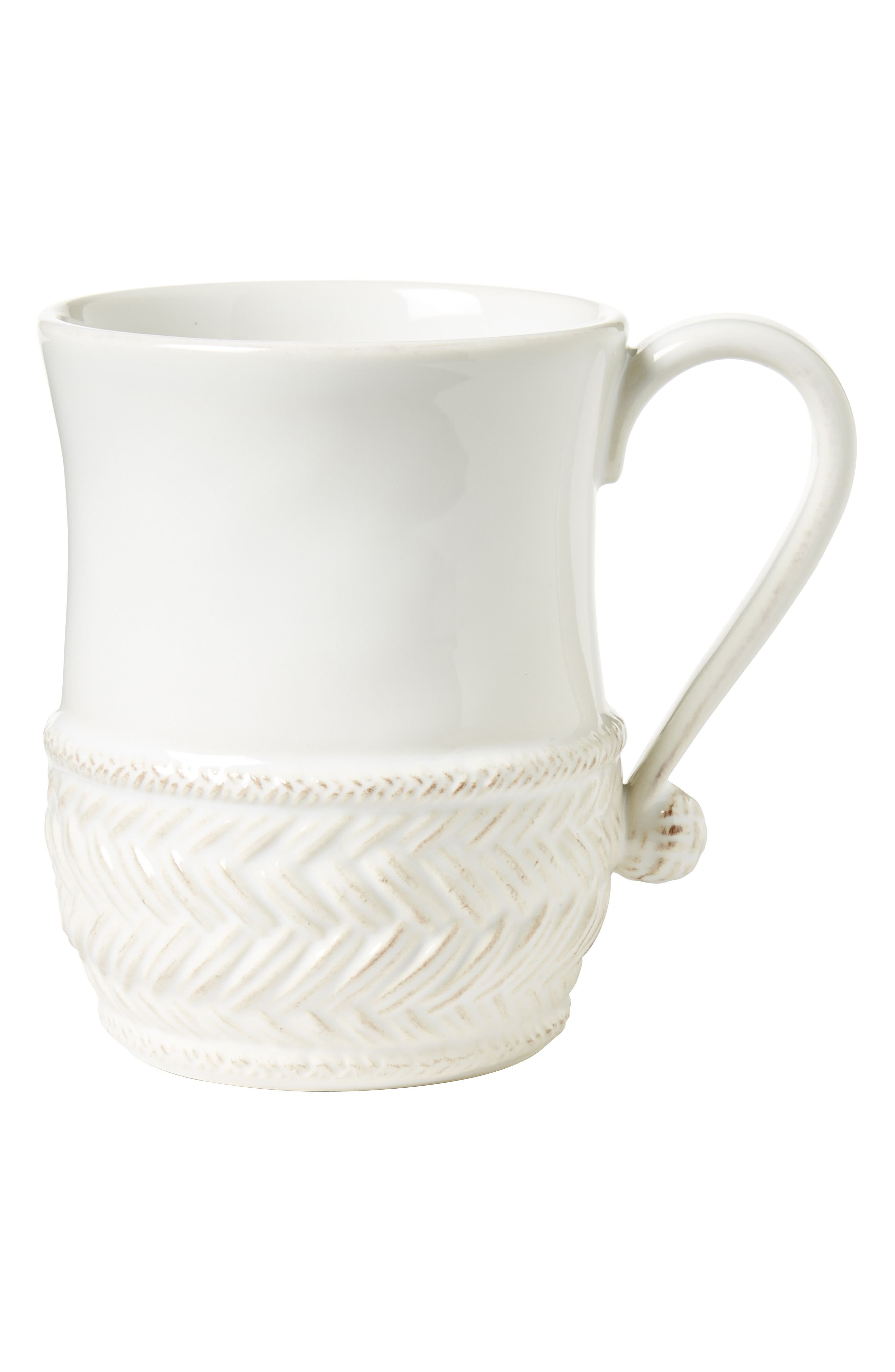 Le Panier Ceramic Mug,                             Main thumbnail 1, color,                             WHITEWASH