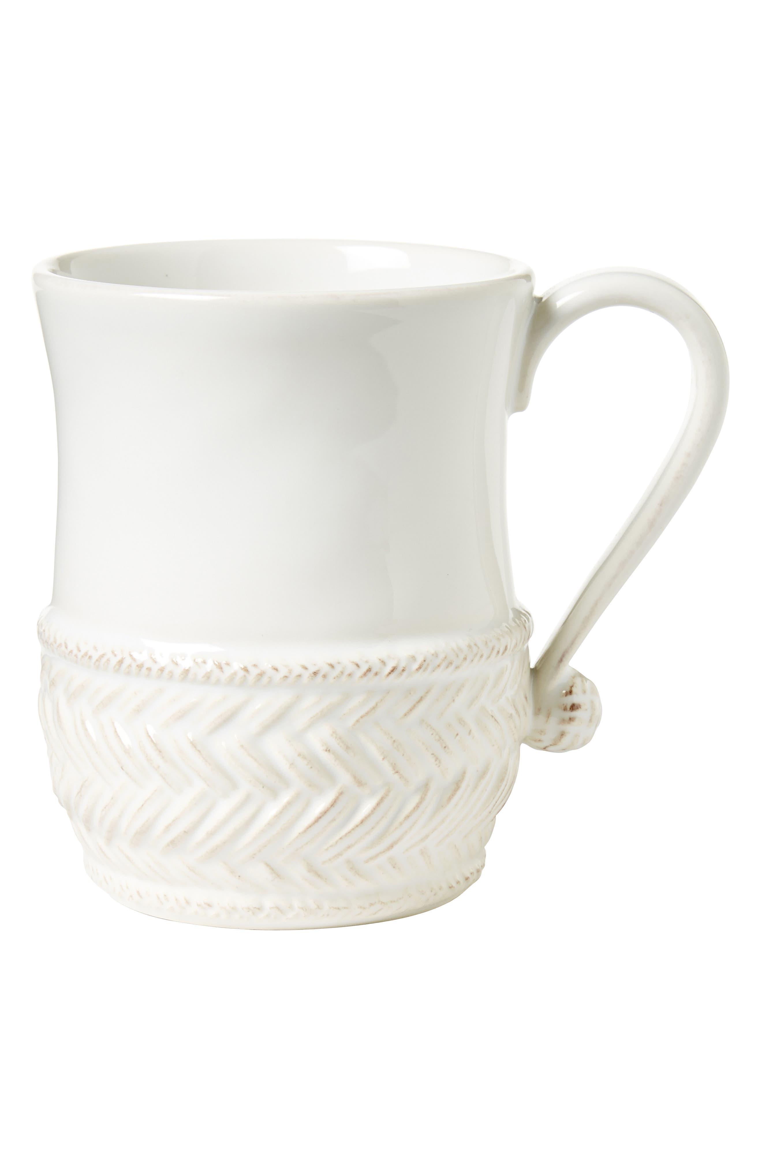 Le Panier Ceramic Mug,                         Main,                         color, WHITEWASH