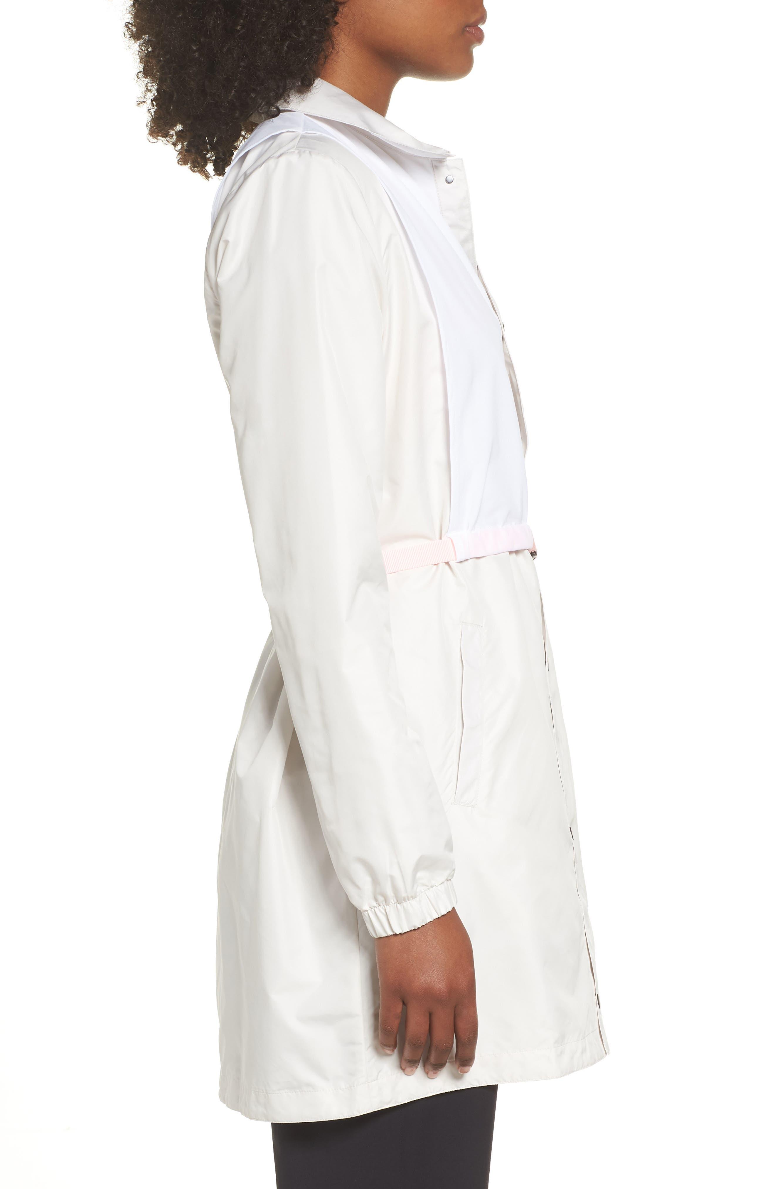 Hybrid Coaches Jacket/Dress,                             Alternate thumbnail 3, color,                             PHANTOM/ WHITE/ ARCTIC PUNCH