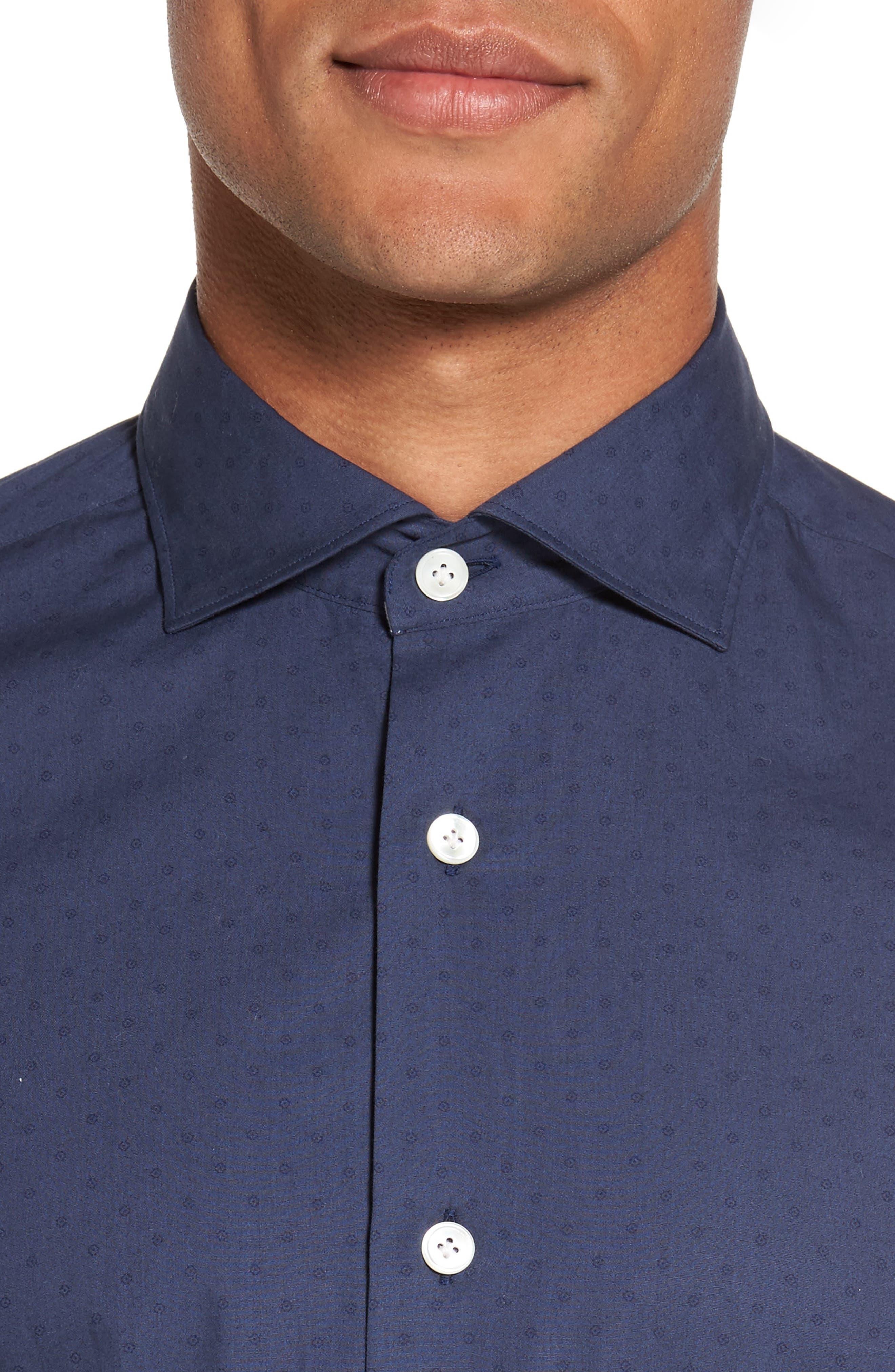 Dot Print Sport Shirt,                             Alternate thumbnail 4, color,                             410