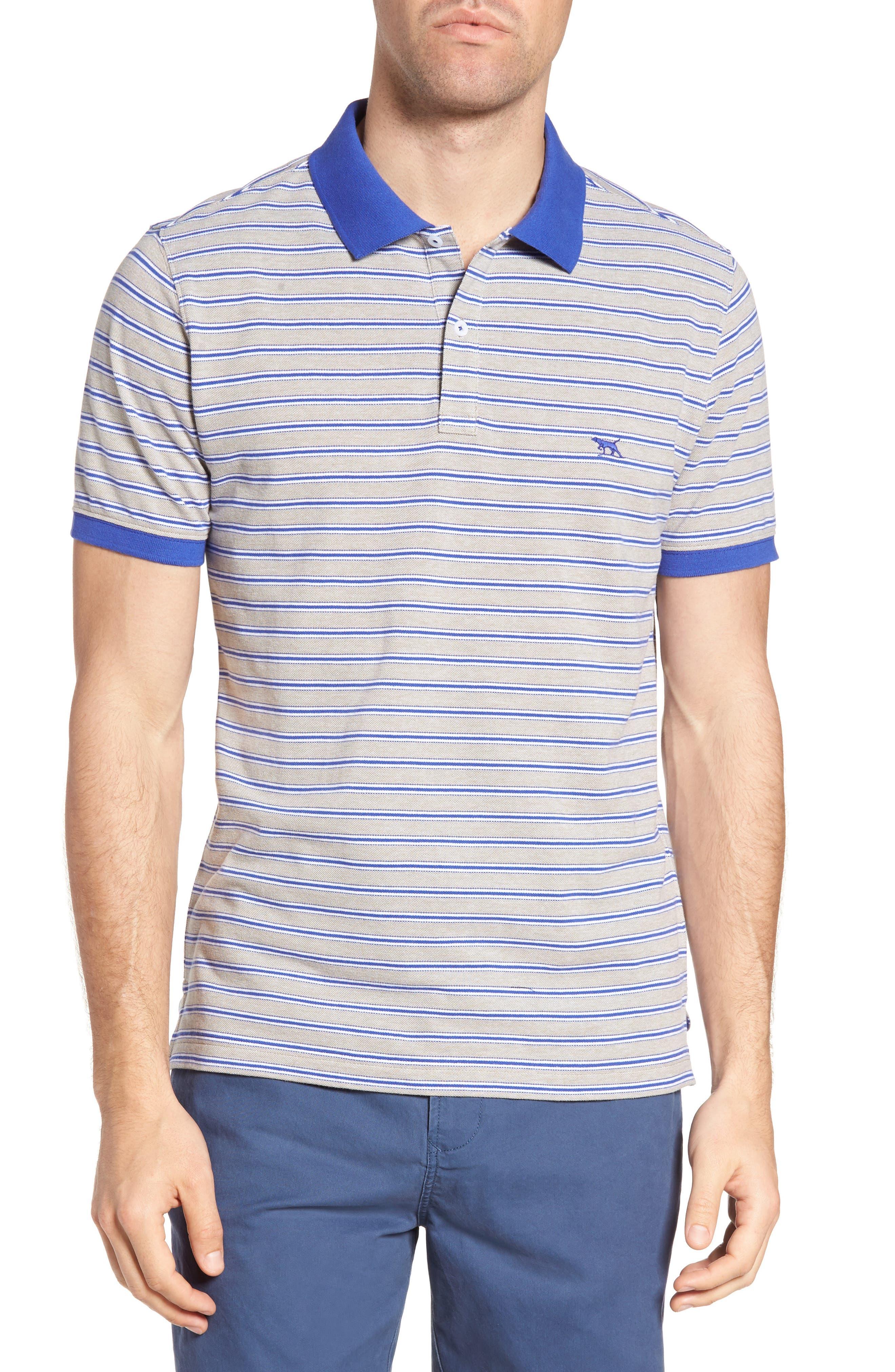 Kempthorne Sports Fit Stripe Piqué Polo,                         Main,                         color, 423